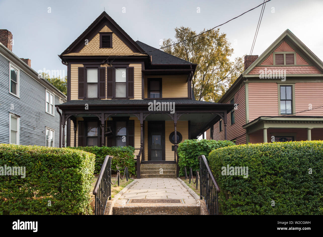 USA, Georgia, Atlanta, Martin Luther King National Historic Site, birthplace of Rev. Martin Luther King, King family home - Stock Image