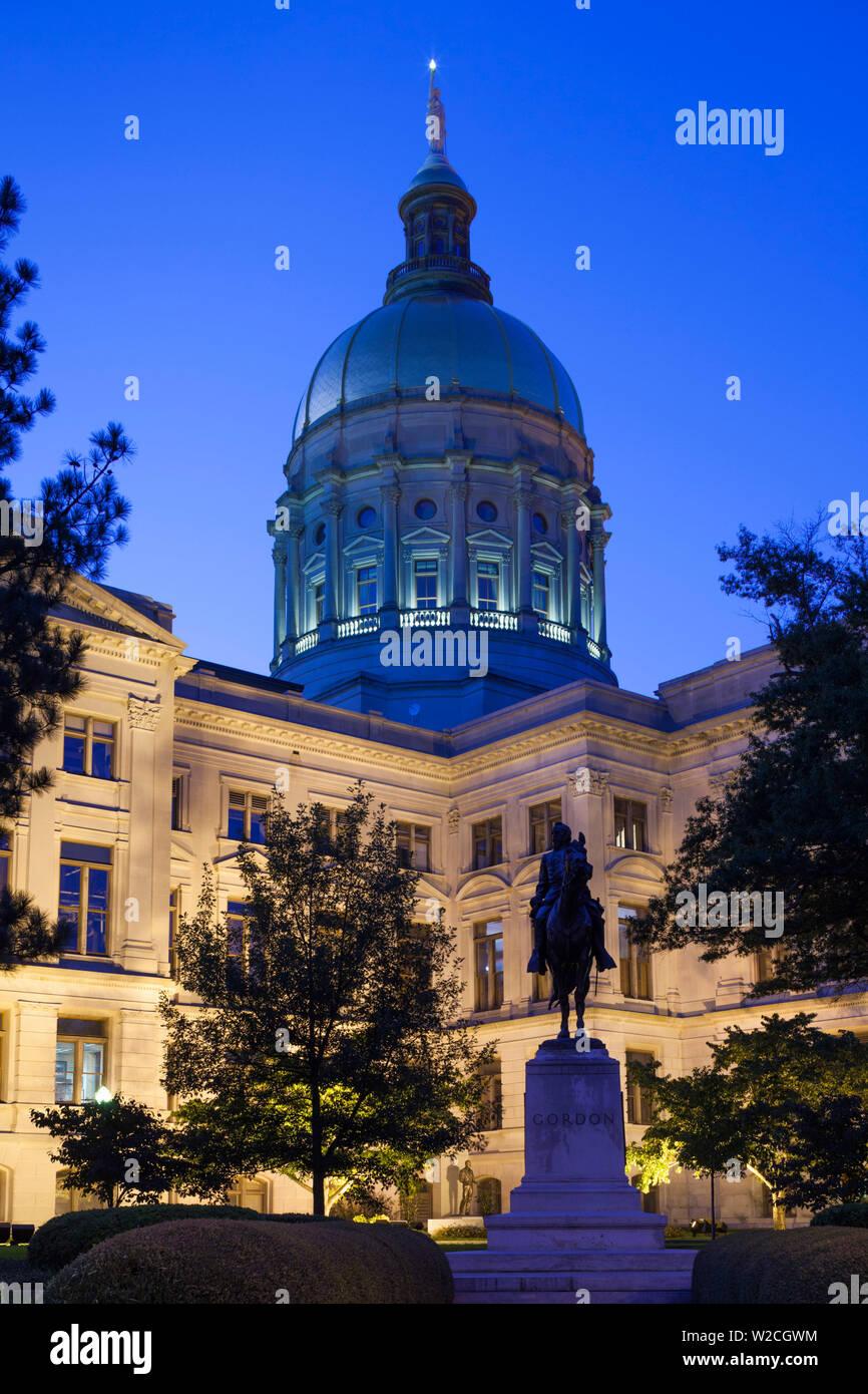 USA, Georgia, Atlanta, Georgia State Capitol Building, state house - Stock Image