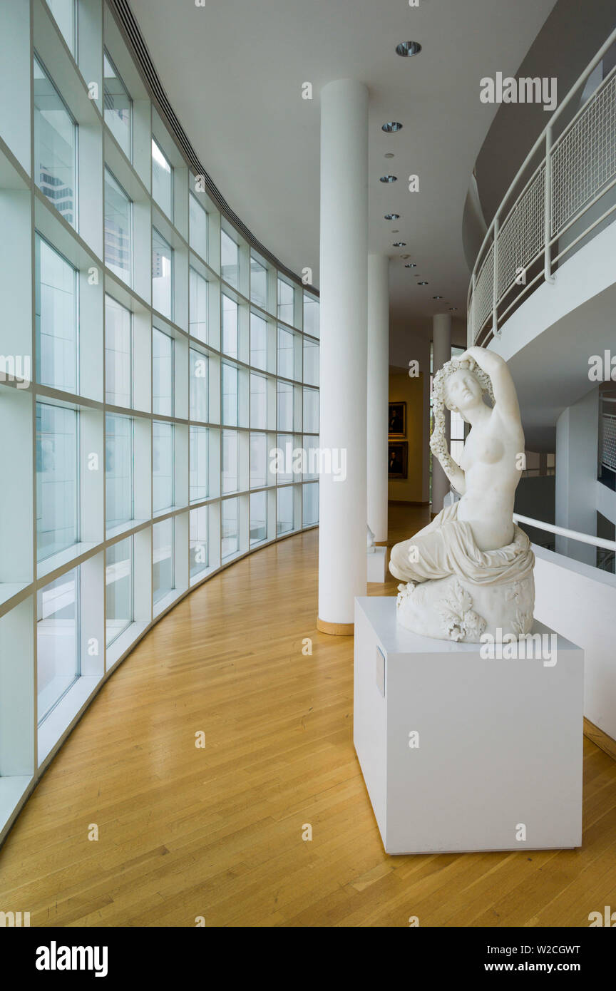 USA, Georgia, Atlanta, The High Museum of Art, atrium of the new wing designed by Renzo Piano, sculpture by Chauncey Bradley Ives, Flora, 1852 - Stock Image