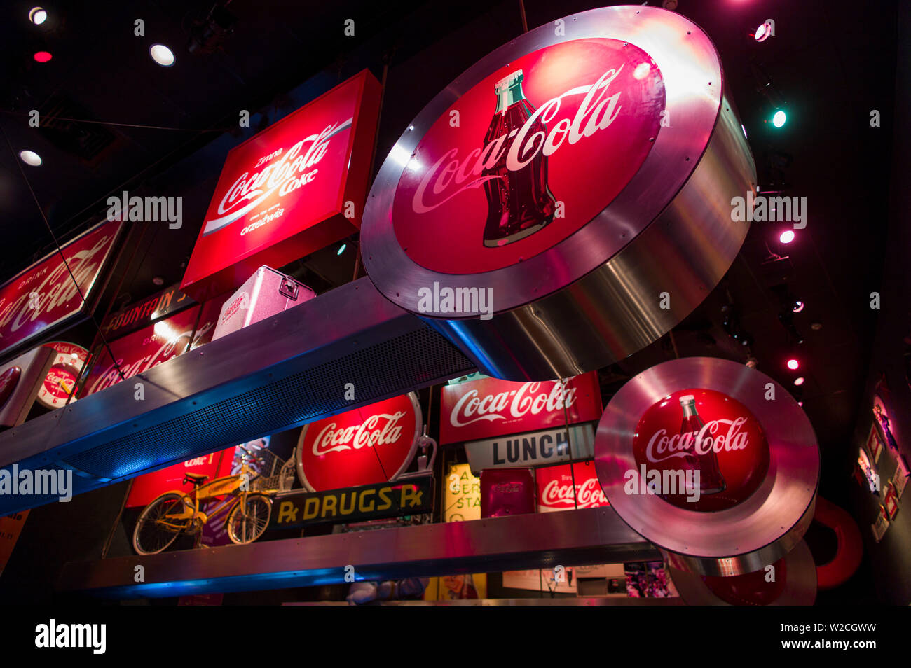 USA, Georgia, Atlanta, Coca Cola World, museum to Coca Cola - Stock Image