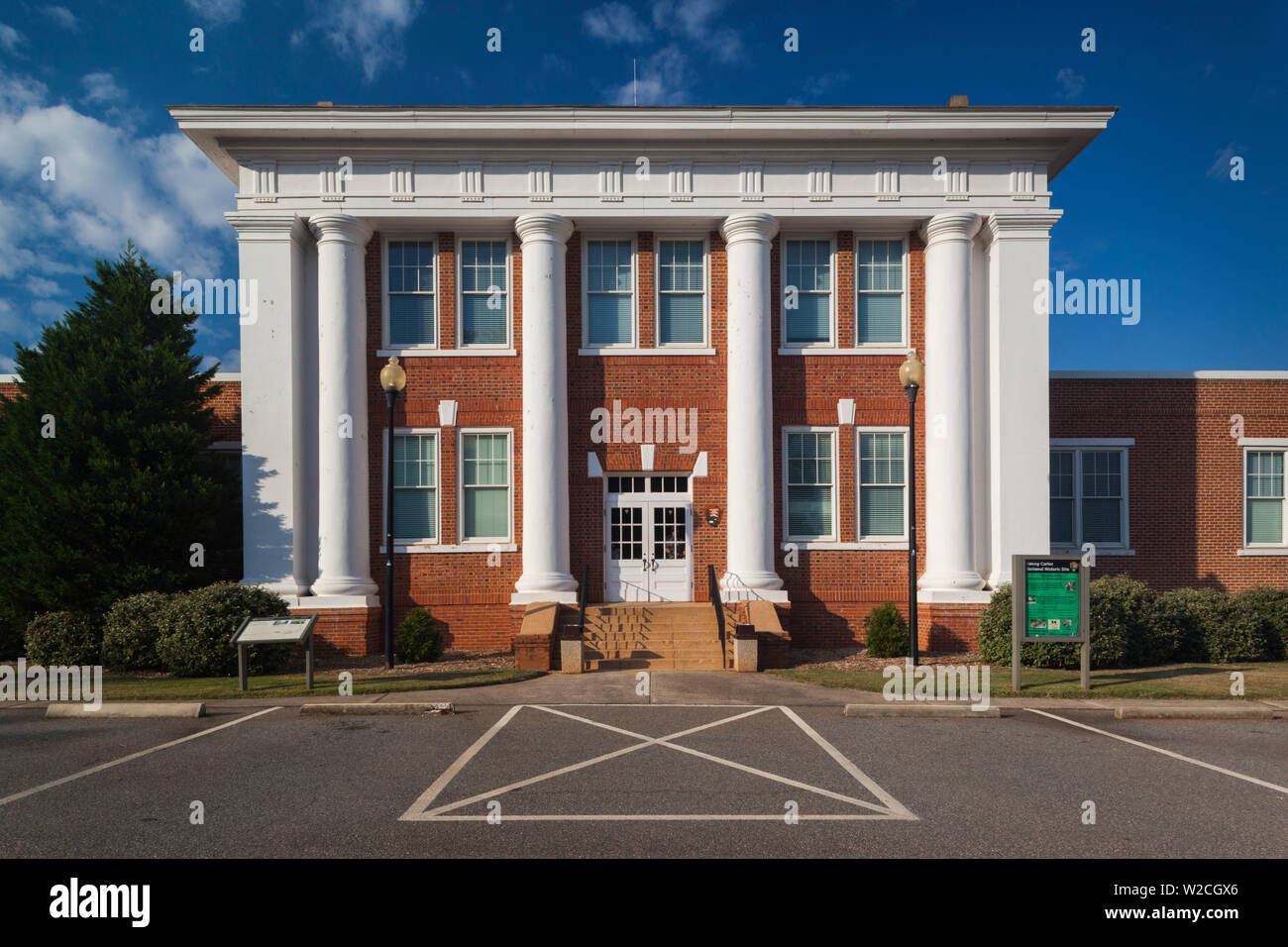USA, Georgia, Plains, Jimmy Carter National Historic Site, former Plains High School, once attended by future President Jimmy Carter - Stock Image