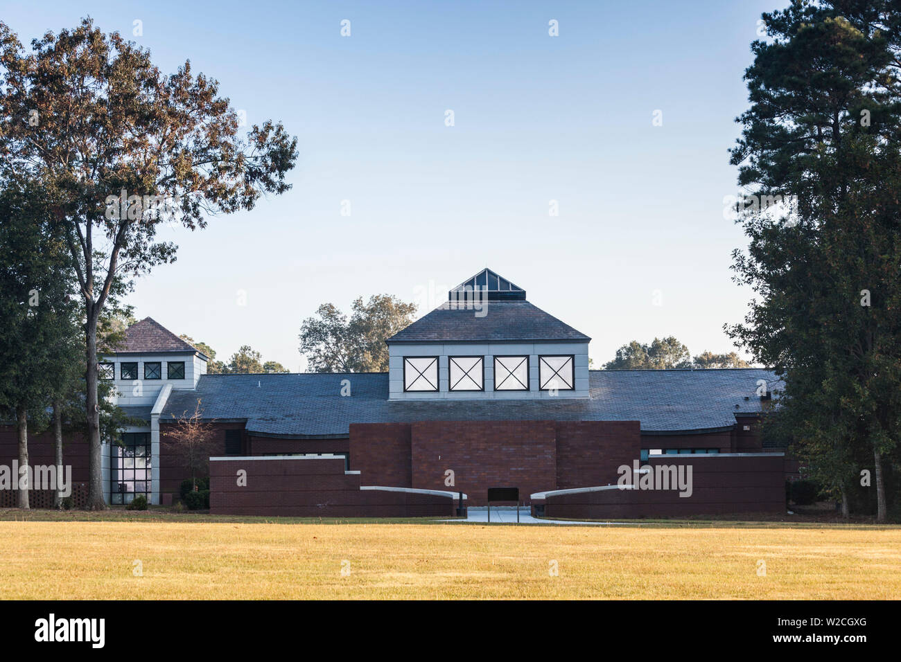 USA, Georgia, Andersonville, Andersonville National Historic Site, site of the fist Civil War-era Prisoner-of-War camp, National Prisoner-of-War Museum - Stock Image