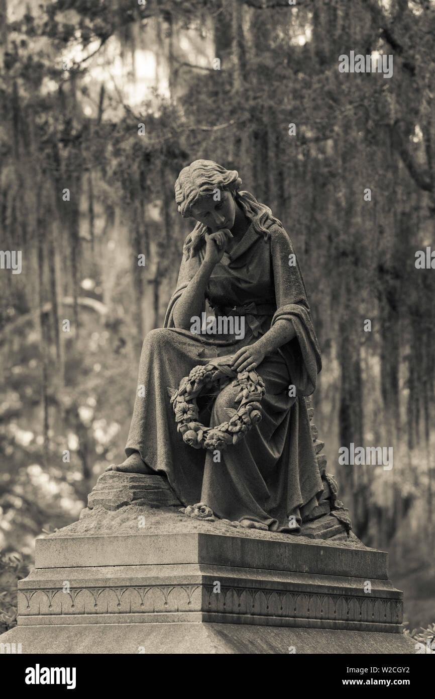 USA, Georgia, Savannah, Bonaventure Cemetery - Stock Image