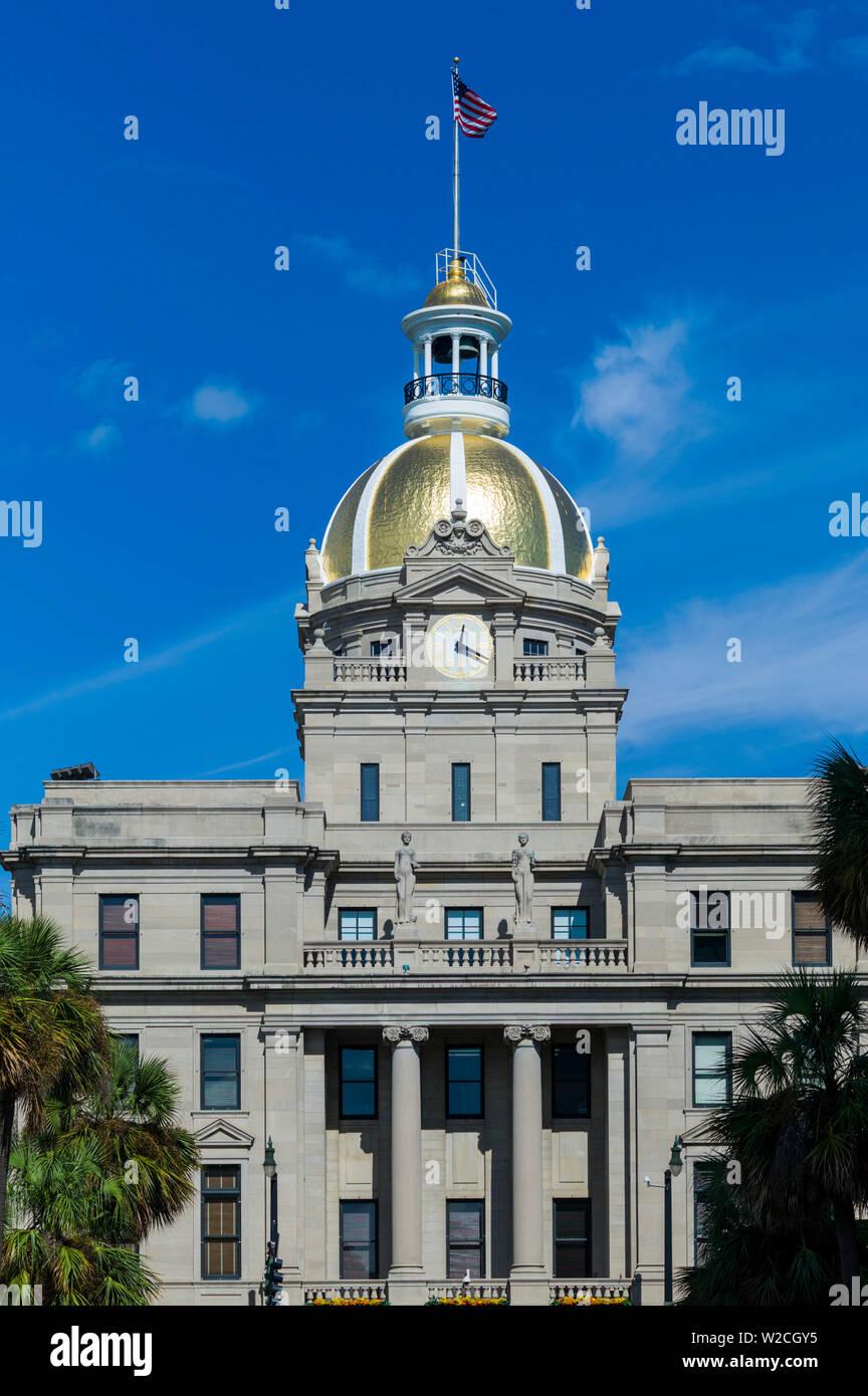 USA, Georgia, Savannah, city hall - Stock Image