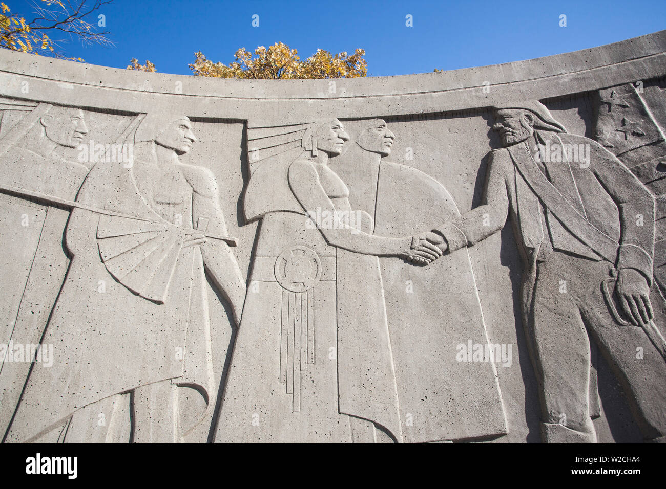 USA, Iowa, Council Bluffs, Lewis and Clark Monument - Stock Image