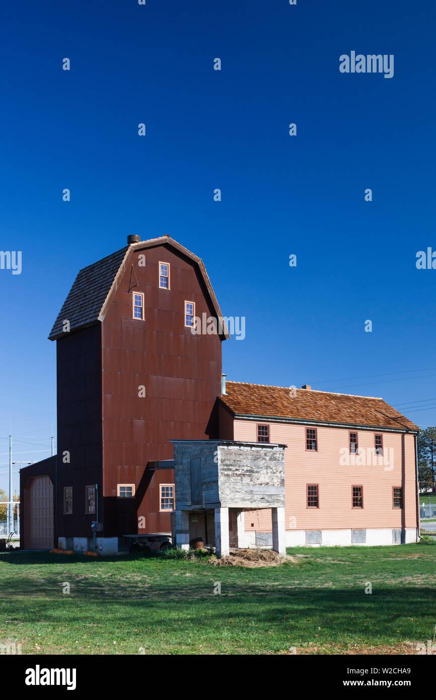 USA, Nebraska, Omaha, Historic Florence Mill Stock Photo