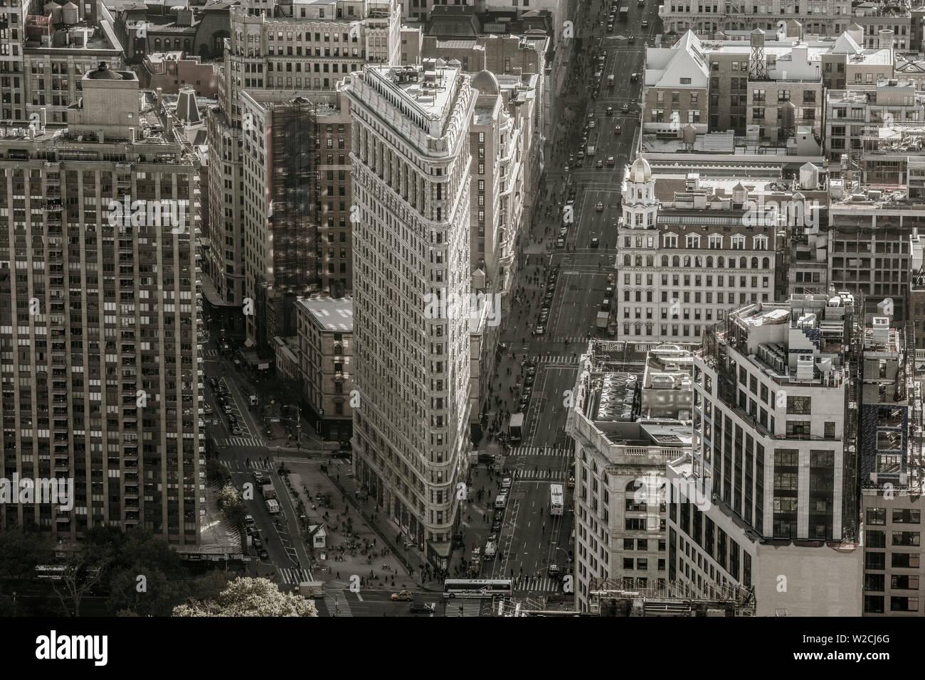 USA, New York, Manhattan, Midtown, The Flatiron Building - Stock Image