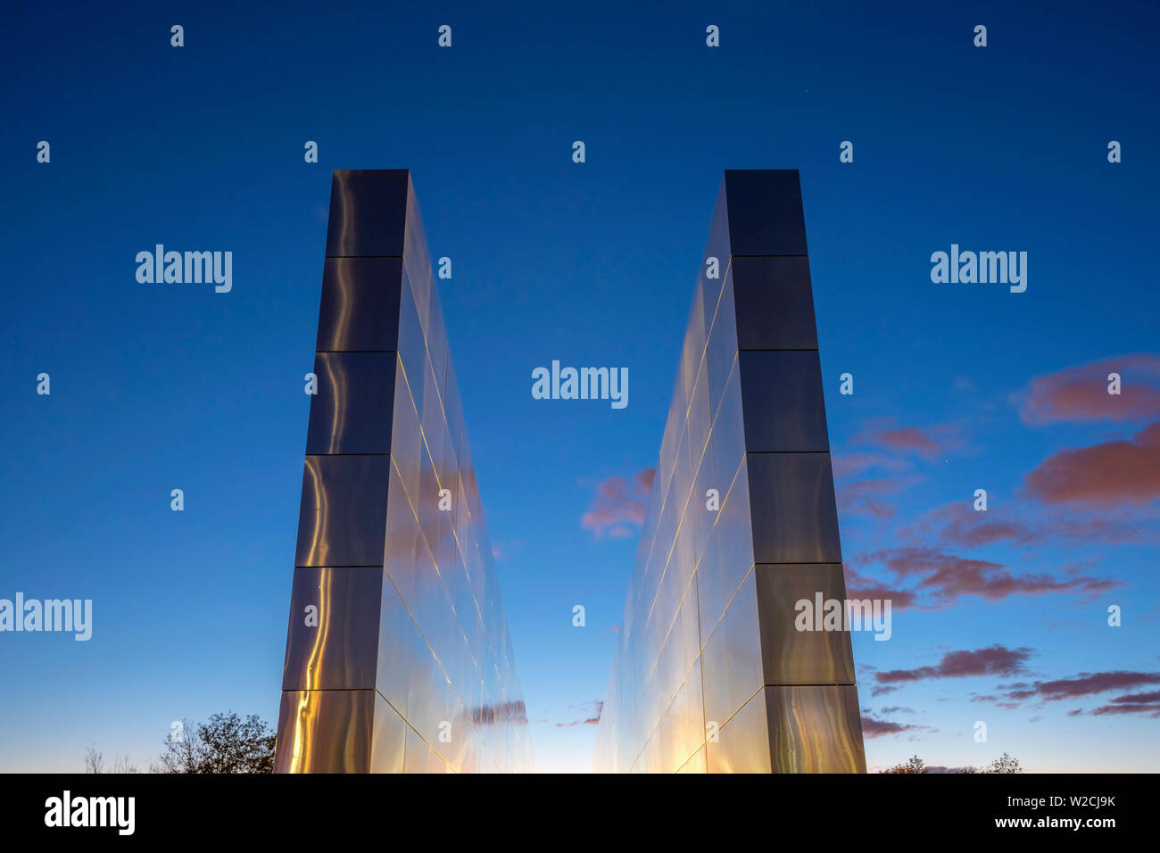 USA, New Jersey, Jersey City, Liberty State Park, Empty Sky memorial to new Jerseyans lost during 911 attacks on the World Trade Center - Stock Image