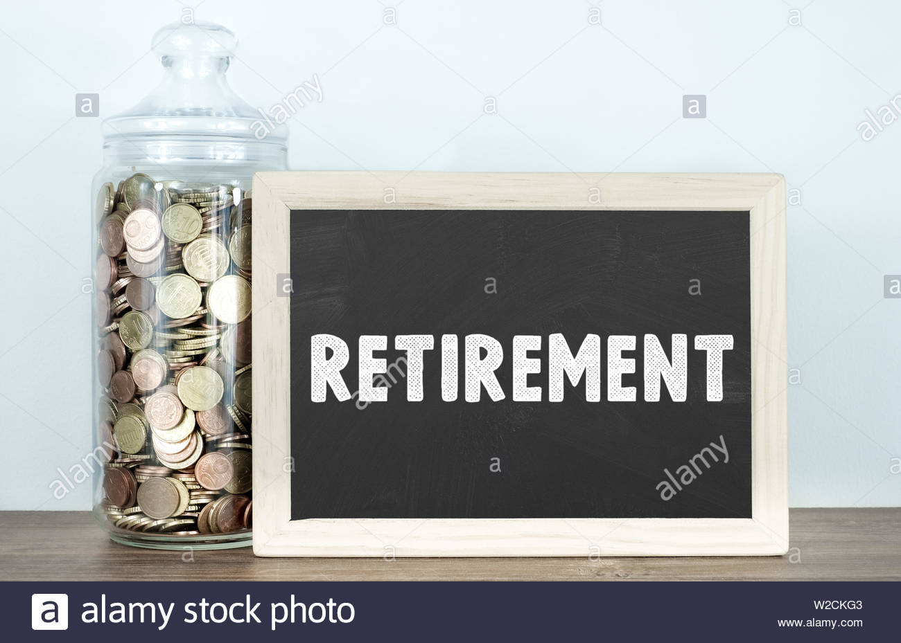 Planning your Retirement - information board - Stock Image