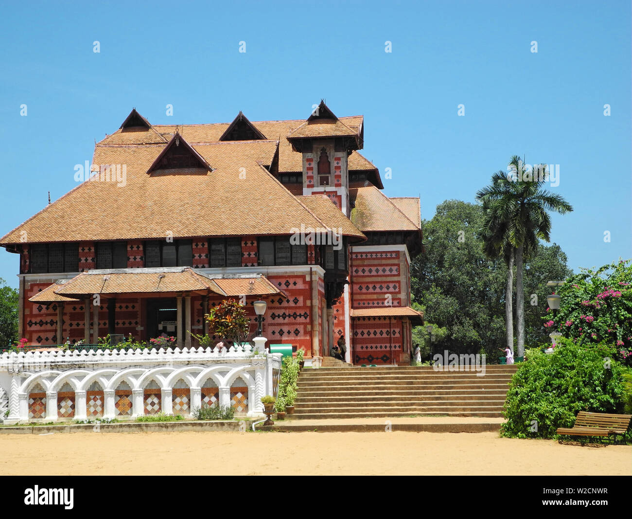 Museum building in the zoo of the city of Trivandrum Stock Photo
