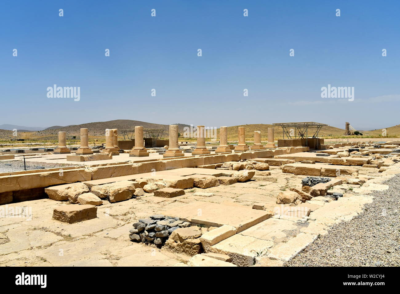 Pasargadae, Shiraz, Fars Province, Iran, June 22, 2019,The Private Palace, build to serve as the principal public palace for Cyrus and his court - Stock Image