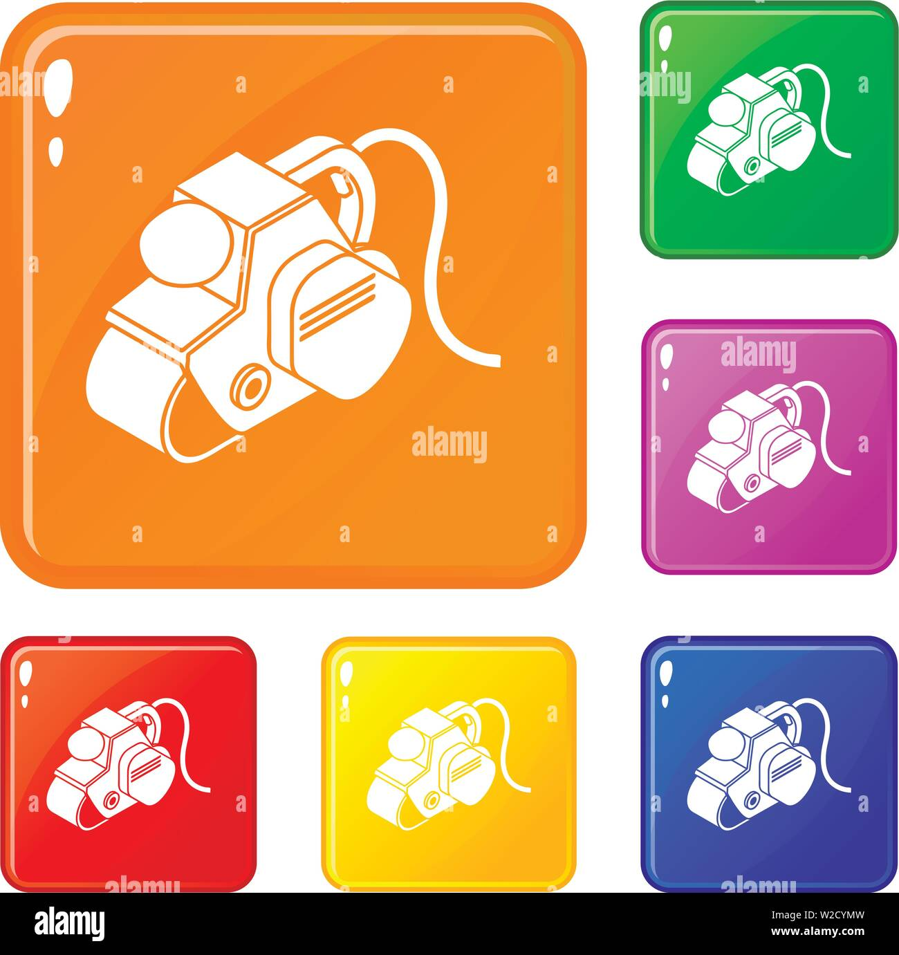 Power tool icons set vector color - Stock Image