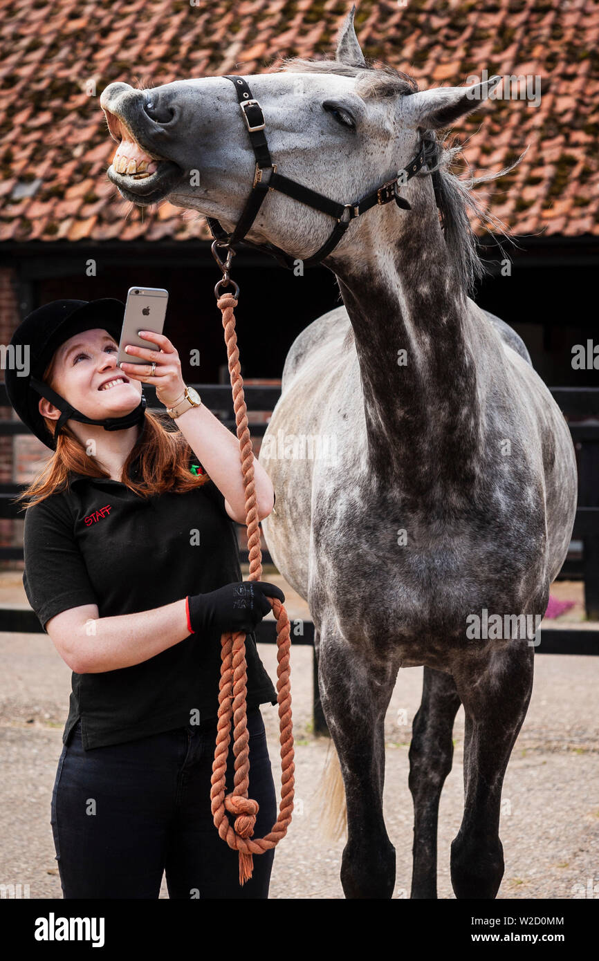 Stephanie Callen of the Redwings Horse Sanctuary in Hapton, Norfolk