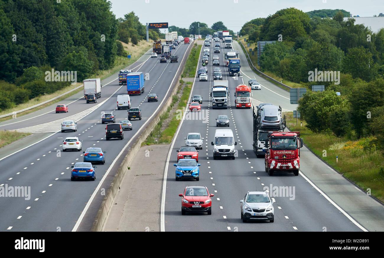 M18 Motorway between Rotherham & Sheffield, South Yorkshire, Northern England, UK - Stock Image