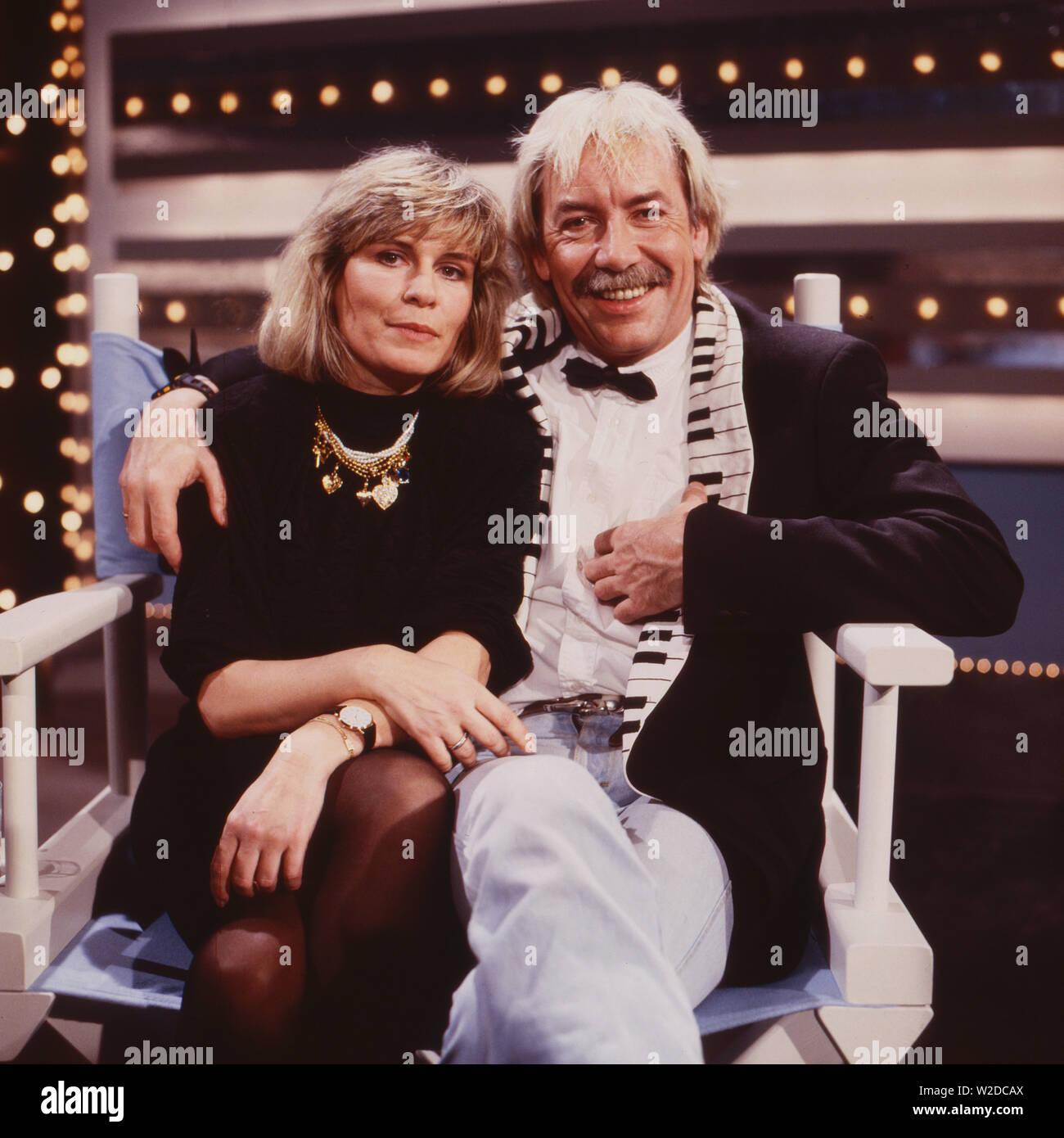 Kaum zu glauben, Fernsehschow, Deutschland 1988, Mitwirkende: Mary Roos, Werner Böhm Stock Photo