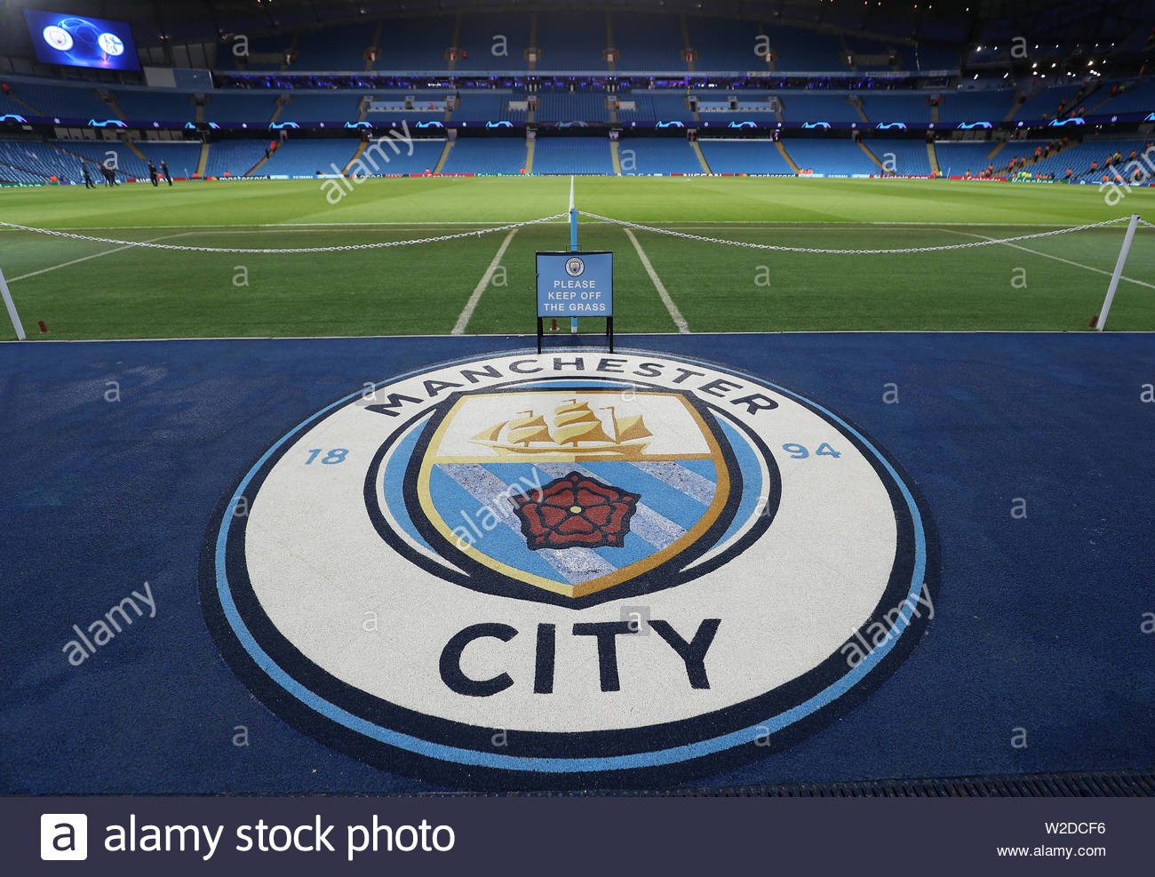 File photo dated 12-03-2019 of A general view of the Etihad Stadium. - Stock Image