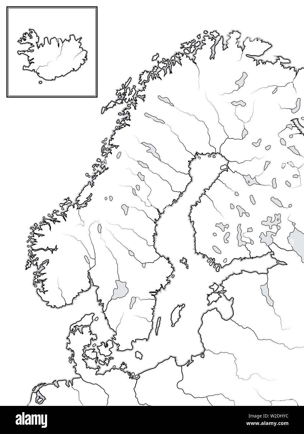 Map of The SCANDINAVIAN Lands: Scandinavia, Sweden, Norway ... Map Insert on connect map, line map, find map, read map, map with inset map, search map, create map, move map, change map, legend on a map, view map, make your own wedding map, data map, inner map, esc map, open map, locate map, add map, locator map,