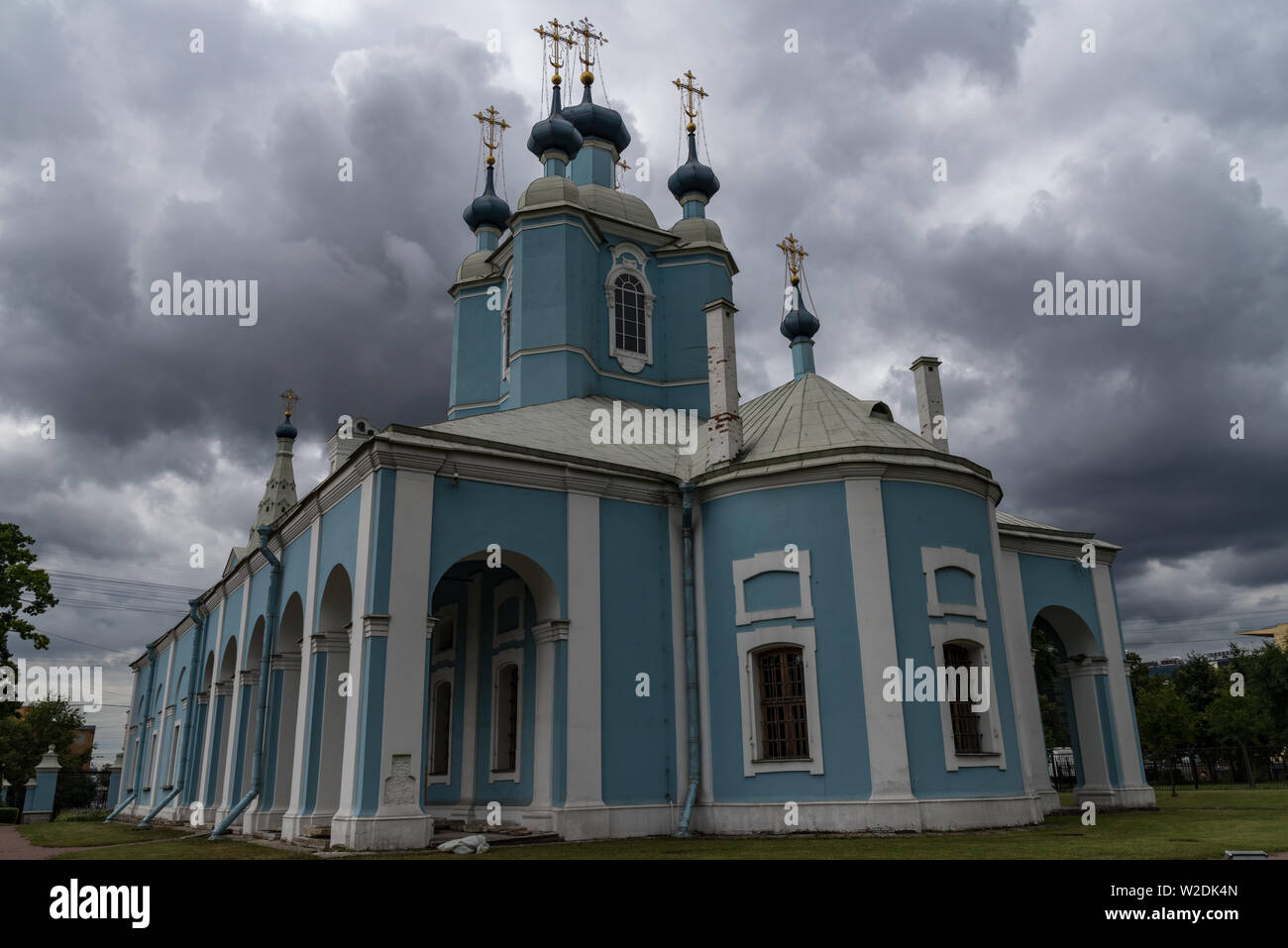 Baroque building of Sampsonievsky Cathedral, Sankt Peterburg, Russia - Stock Image