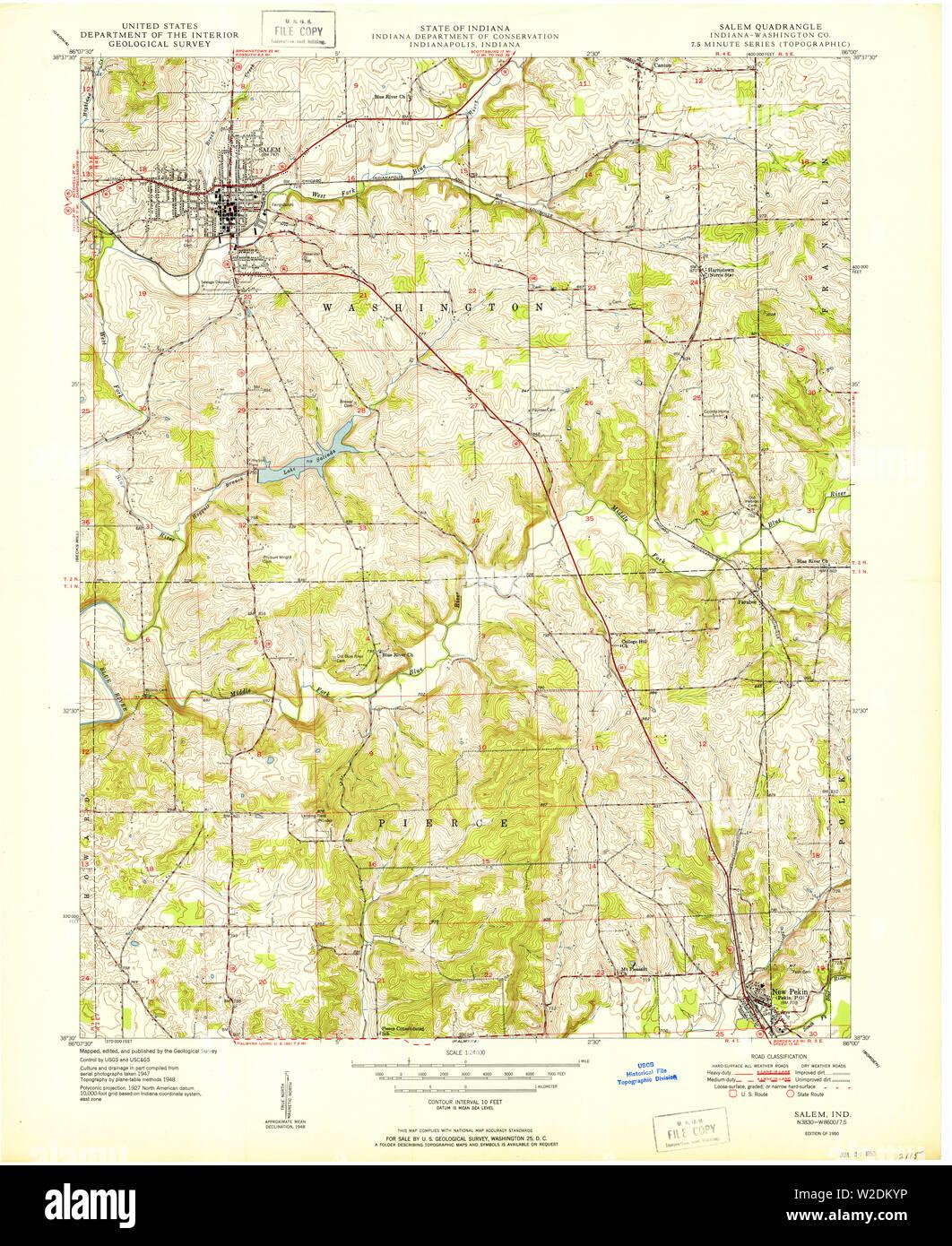 USGS TOPO Map Indiana IN Salem 160268 1950 24000 Restoration ... Salem Indiana Map on salem in october, salem on halloween, salem logo, salem india, salem mall, salem golf club, salem capitol building, salem tv,