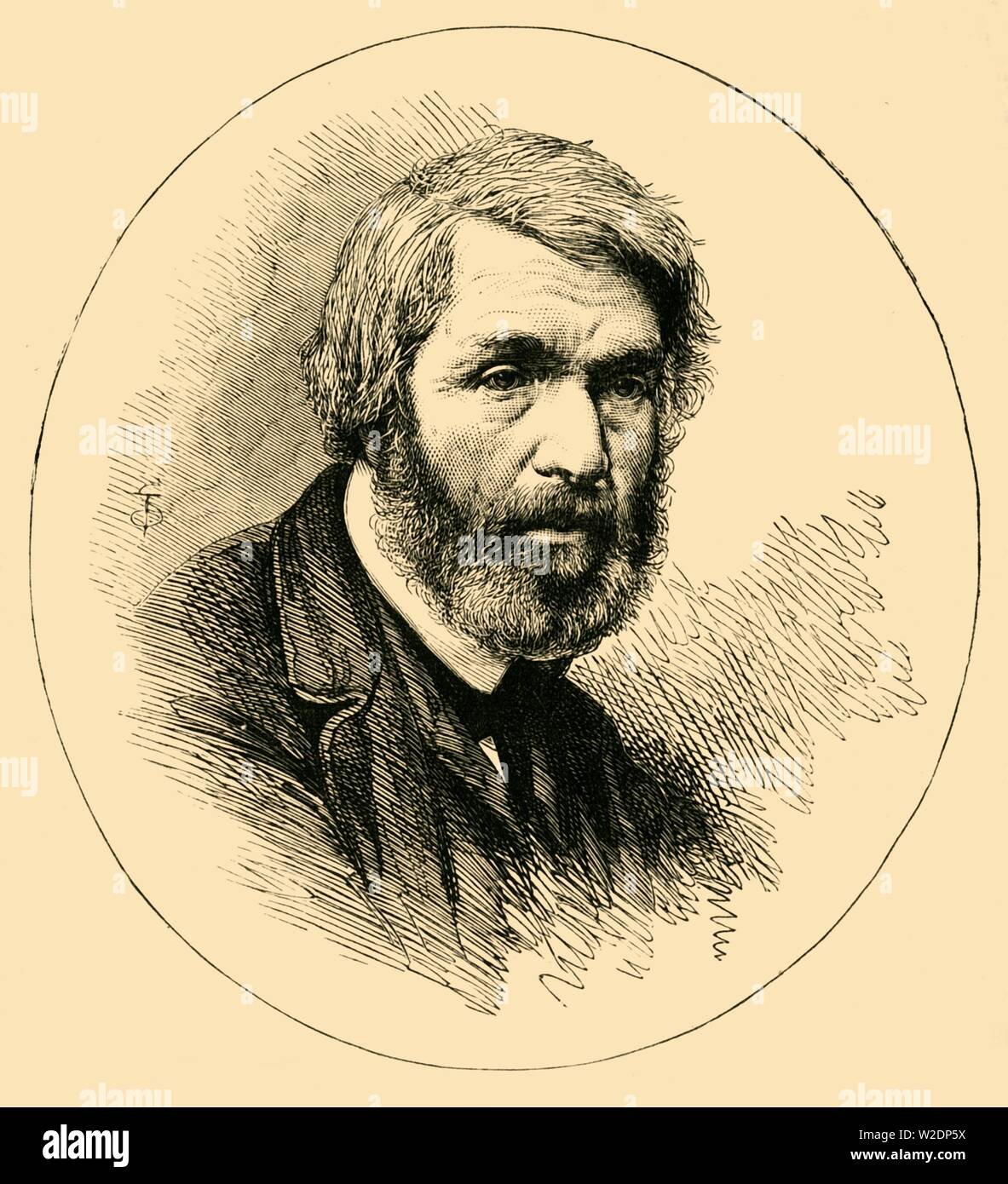 """'Thomas Carlyle', c1876. Thomas Carlyle (1795-1881), Scottish philosopher, writer, historian, mathematician, and teacher considered an important Victorian social commentator. LIved in Kings Cross from 1831, moved to Cheyne Row, Chelsea in 1834. From """"Old and New London: A Narrative of Its History, Its People, and Its Places. The Western and Northern Studies"""", by Edward Walford. [Cassell, Petter, Galpin & Co., London, Paris & New York] - Stock Image"""