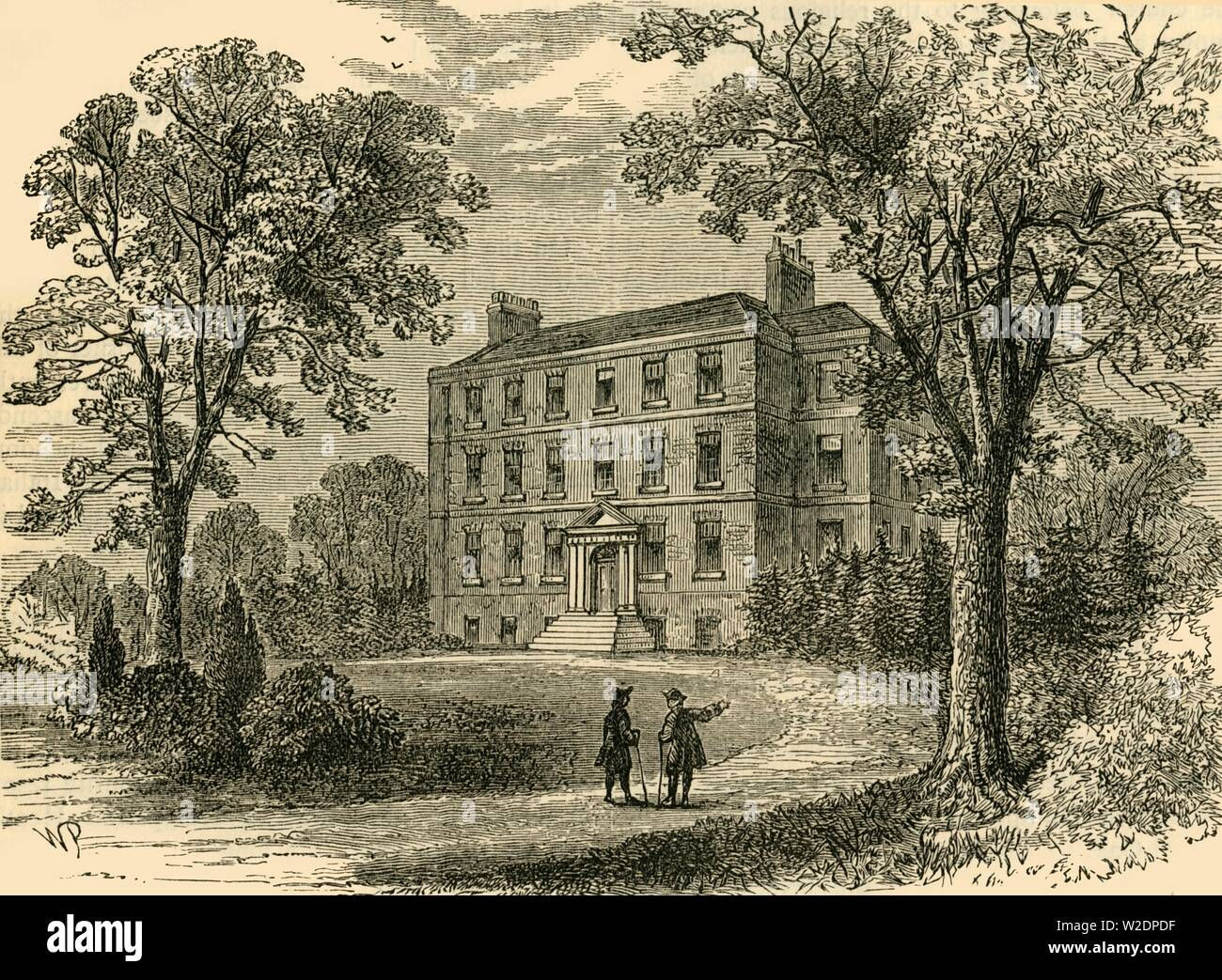 'Belsize House in 1800', (c1876). Creator: Unknown. Stock Photo
