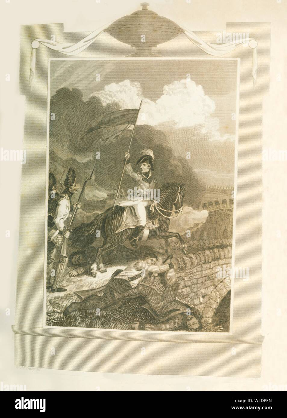 'Buonaparte atttempting to force the Bridge of Arcola', (1796), 1816. Creator: Unknown. Stock Photo