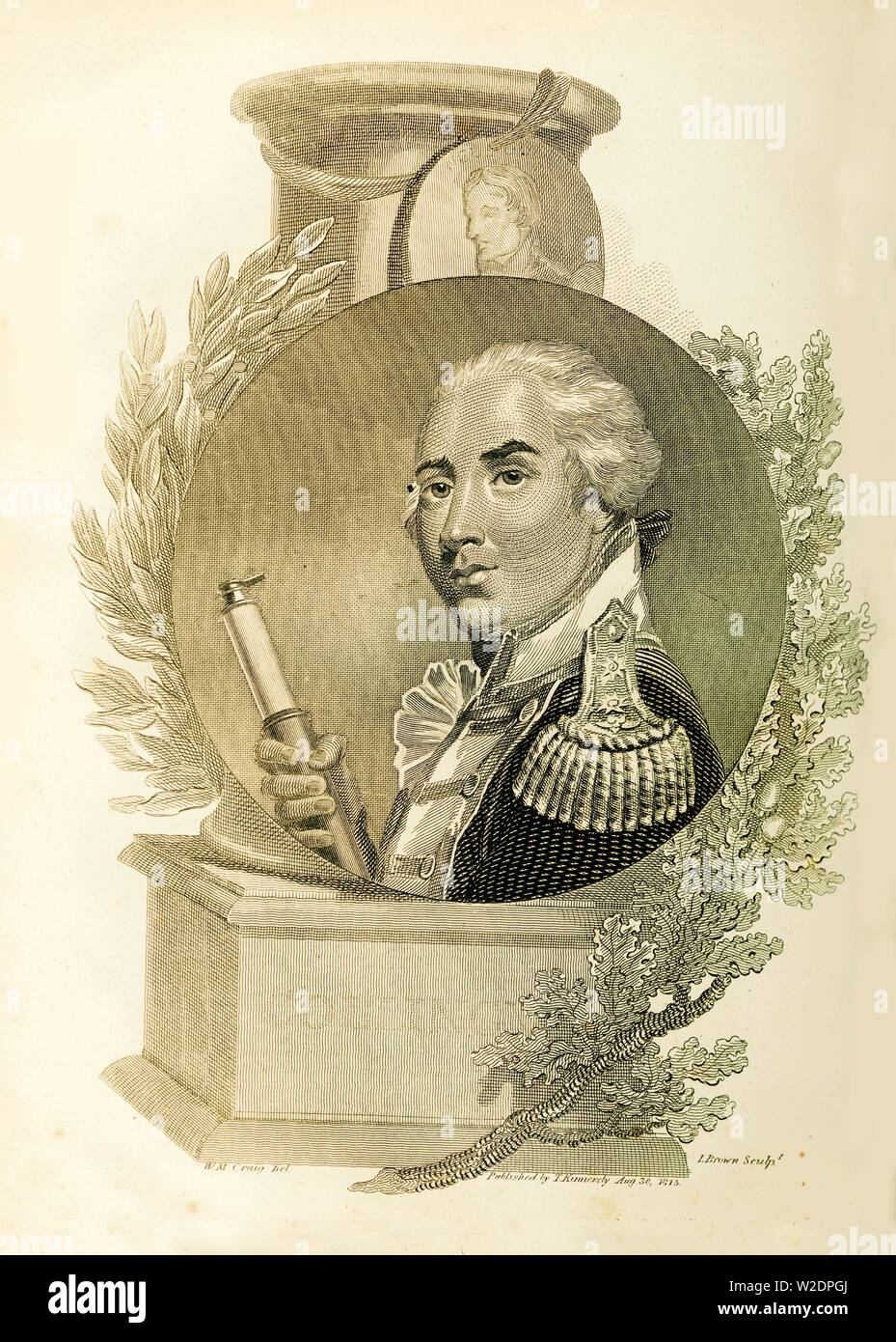 'Admiral Lord Collingwood', (1748-1810), 1816. Creator: Unknown. Stock Photo