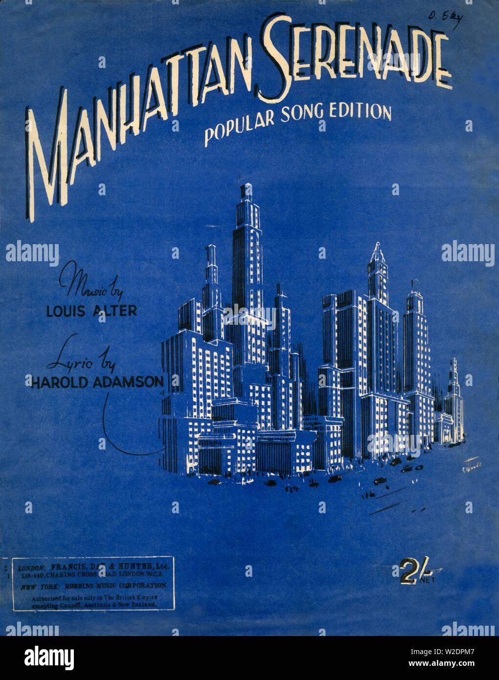 Manhattan Serenade', c1942  Music written by Louis Alter in 1928