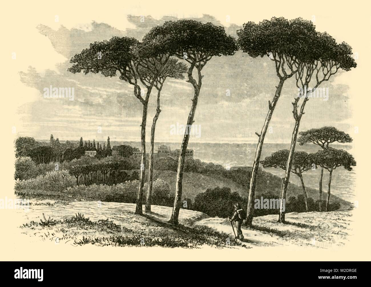 """'Tusculum', 1890. From """"Cassell's Illustrated Universal History Vol. II - Rome"""", by Edmund Ollier. [Cassell and Company, Limited, London, Paris and Melbourne, 1890] - Stock Image"""