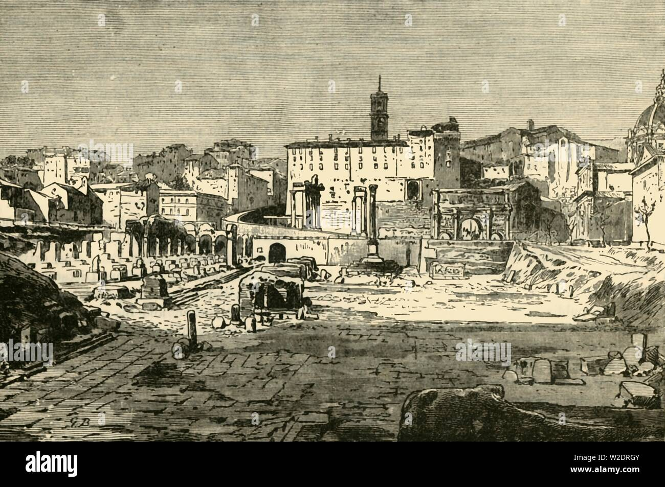 """'The Forum at Rome', 1890. From """"Cassell's Illustrated Universal History Vol. II - Rome"""", by Edmund Ollier. [Cassell and Company, Limited, London, Paris and Melbourne, 1890] - Stock Image"""