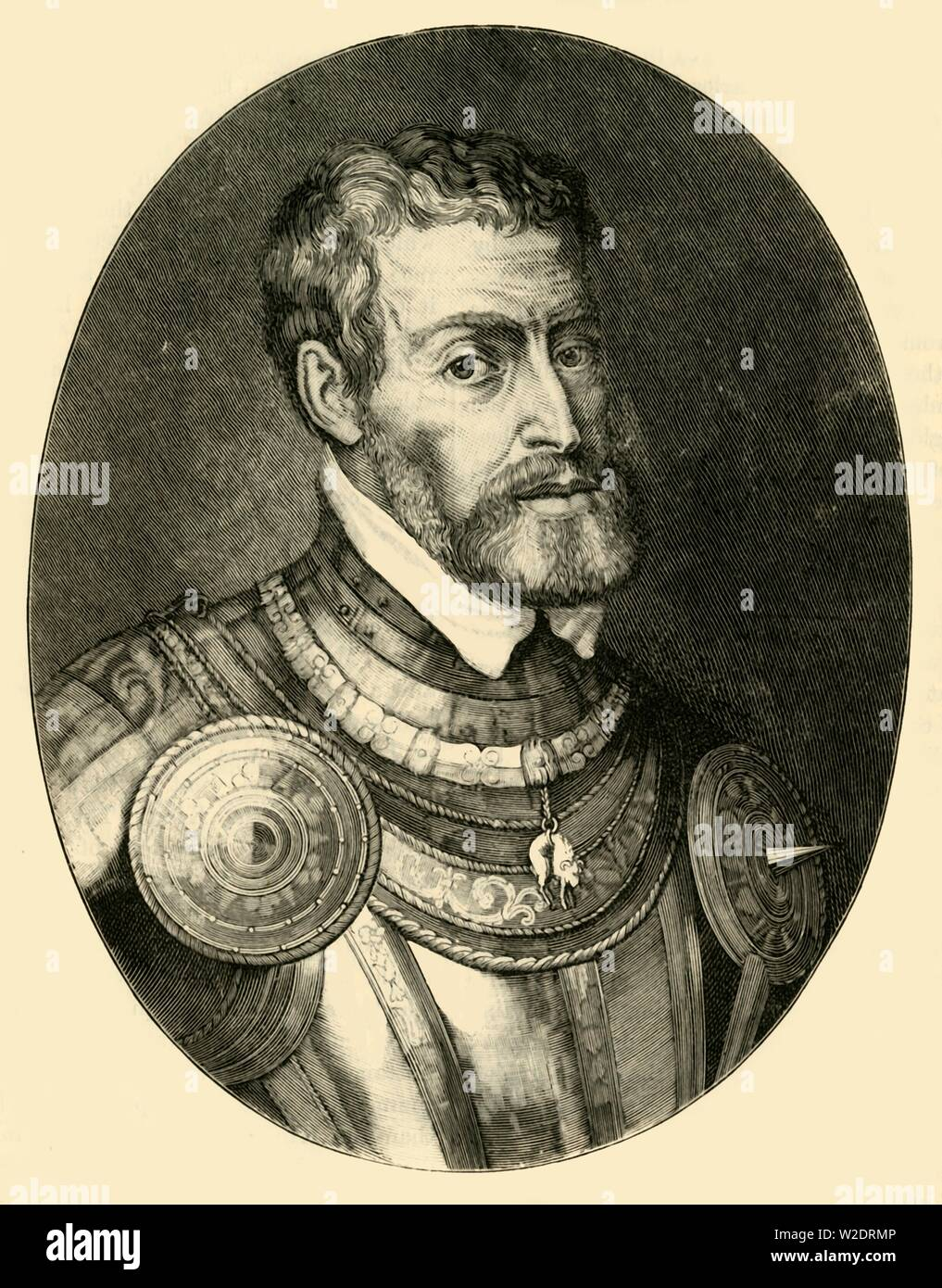 """'The Emperor Charles V', c1530-1540, (1890).  Charles V (1500- 1558),  Holy Roman Emperor from 1519, King of Spain (Castile and Aragon) from 1516 and head of the House of Habsburg.  From """"Cassell's Illustrated Universal History, Vol. IV - Modern History"""", by Edmund Ollier. [Cassell and Company, Limited, London, Paris and Melbourne, 1890] - Stock Image"""