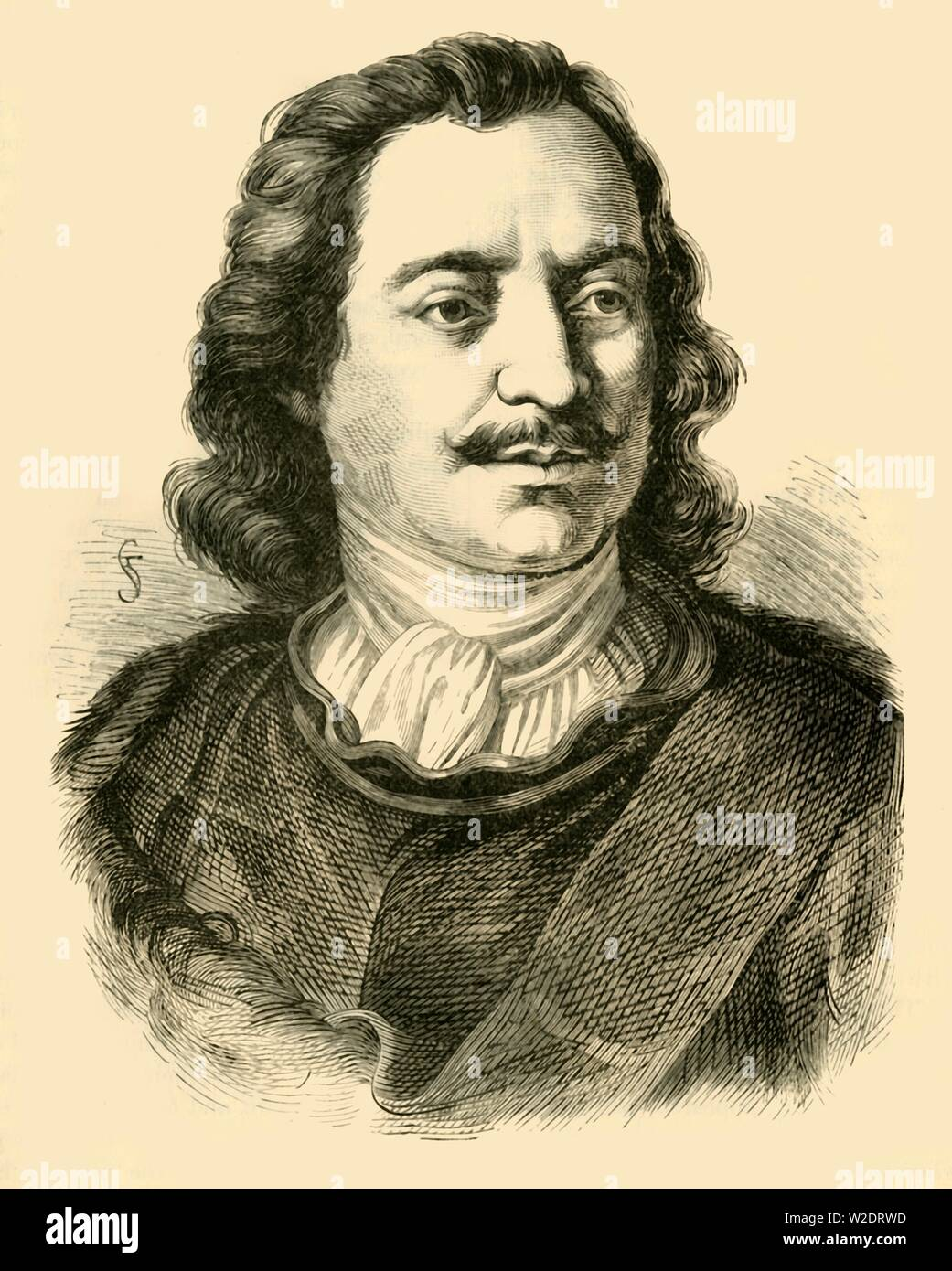 "'Peter the Great',c1710-1720, (1890). Peter the Great (1672-1725) Russian Tsar who replaced traditional and medieval practices with more modern, scientific, Westernised and progressive ideas based on the Enlightenment. From ""Cassell's Illustrated Universal History, Vol. IV - Modern History"", by Edmund Ollier. [Cassell and Company, Limited, London, Paris and Melbourne, 1890] - Stock Image"