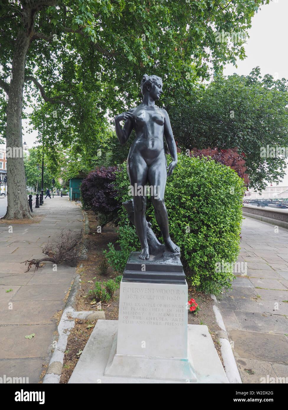 London Uk Circa June 2019 Bronze Statue Of Atalanta Virgin