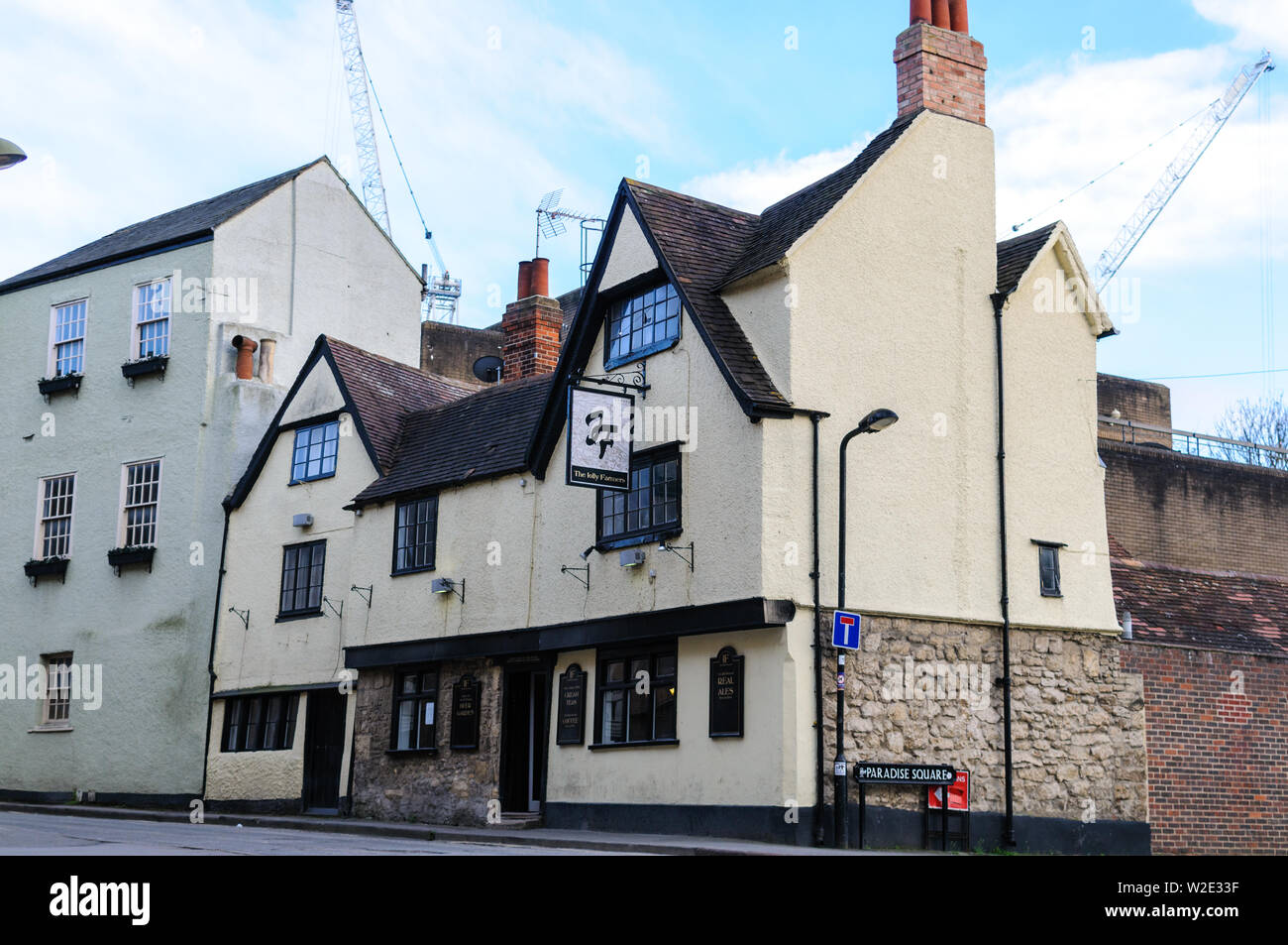 The Jolly Farmers Pub is one of the oldest public houses in Oxfordshire and in modern times the central hub of the vibrant Oxford gay scene. - Stock Image