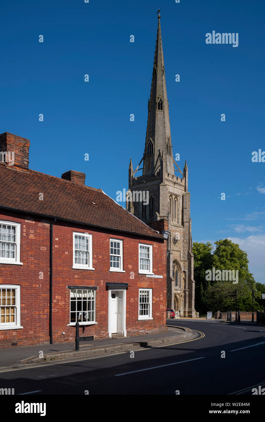Thaxted Church Thaxted Essex England July 2019 - Stock Image
