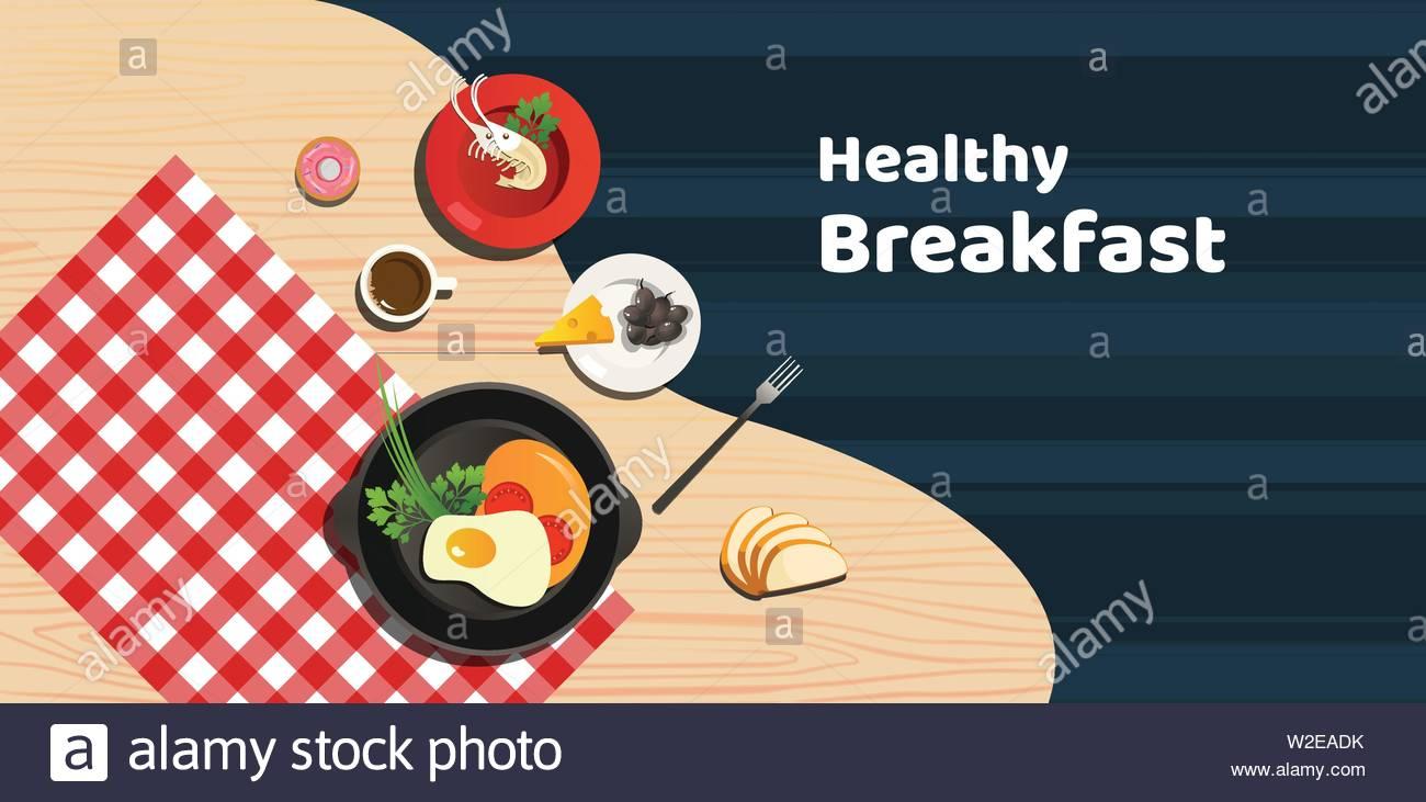 Health Breakfast - Stock Vector