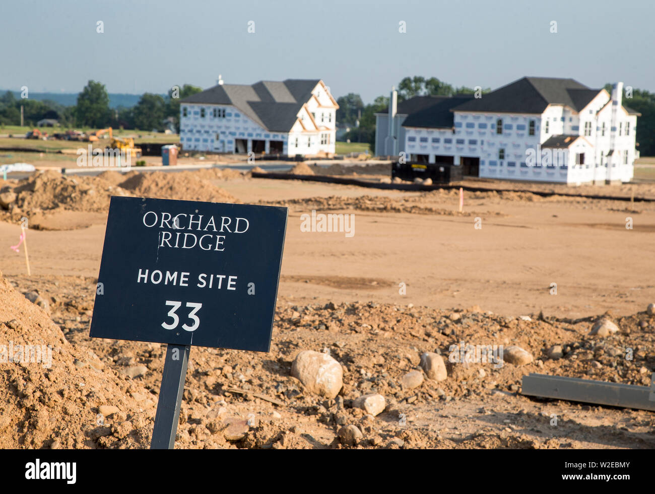 economy,luxury,house,home,building site,construction site,insulation Stock Photo