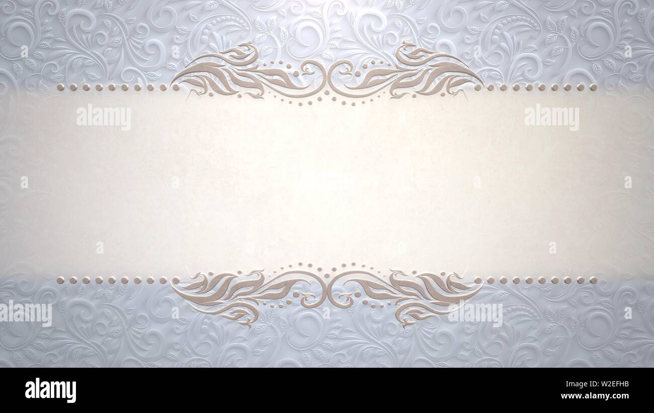 Closeup Vintage Frame With Flowers Wedding Background
