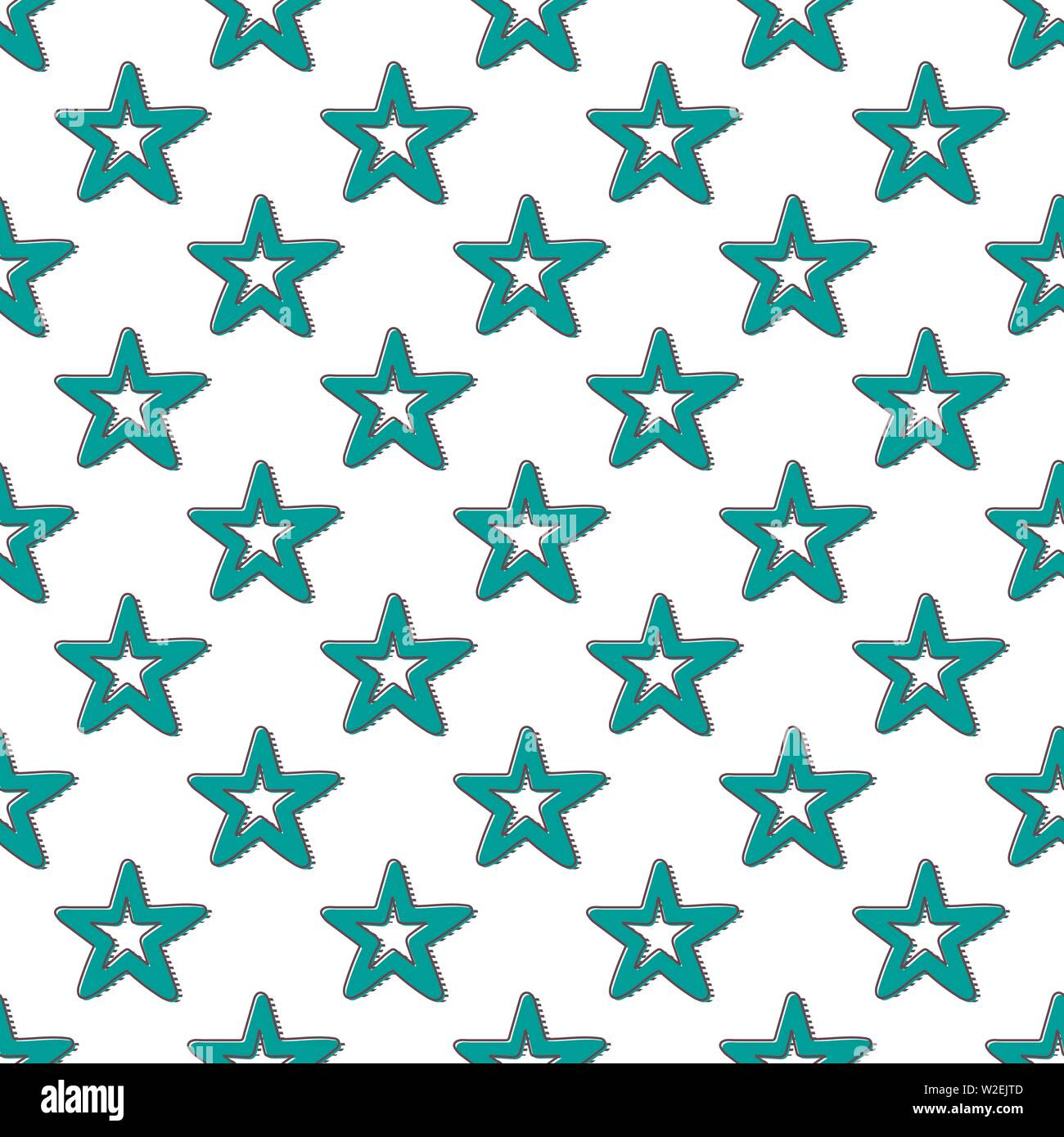 Retro stars pattern  Abstract geometric background in 80s