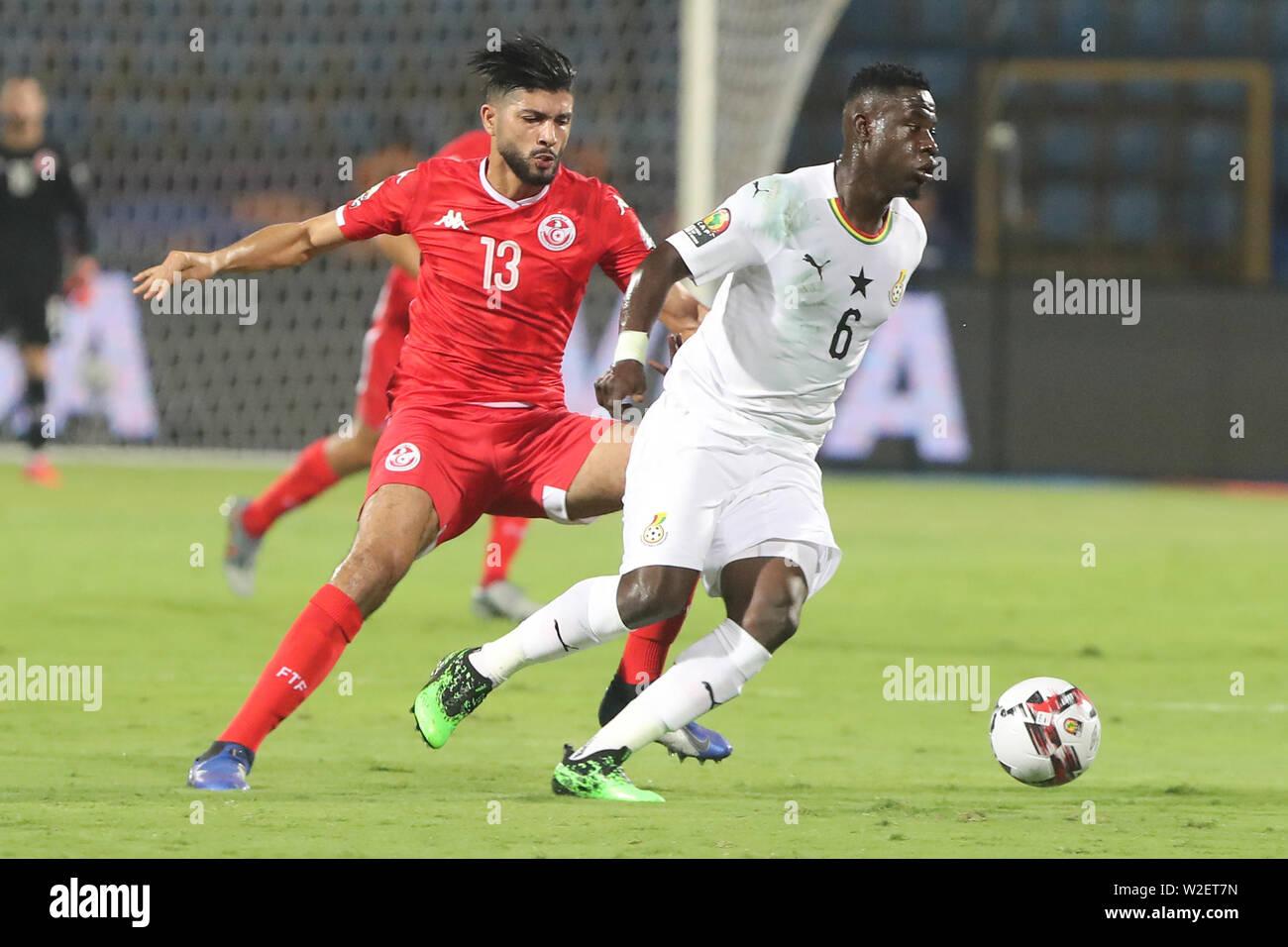 Ismailia, Egypt  08th July, 2019  Ghana·s Afriyie Acquah (R) and