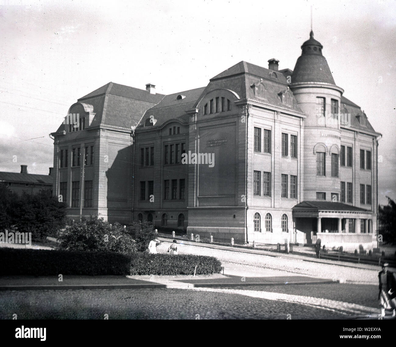 The Classical High School of Tampere (Tammerfors) ca. 1920 - Stock Image