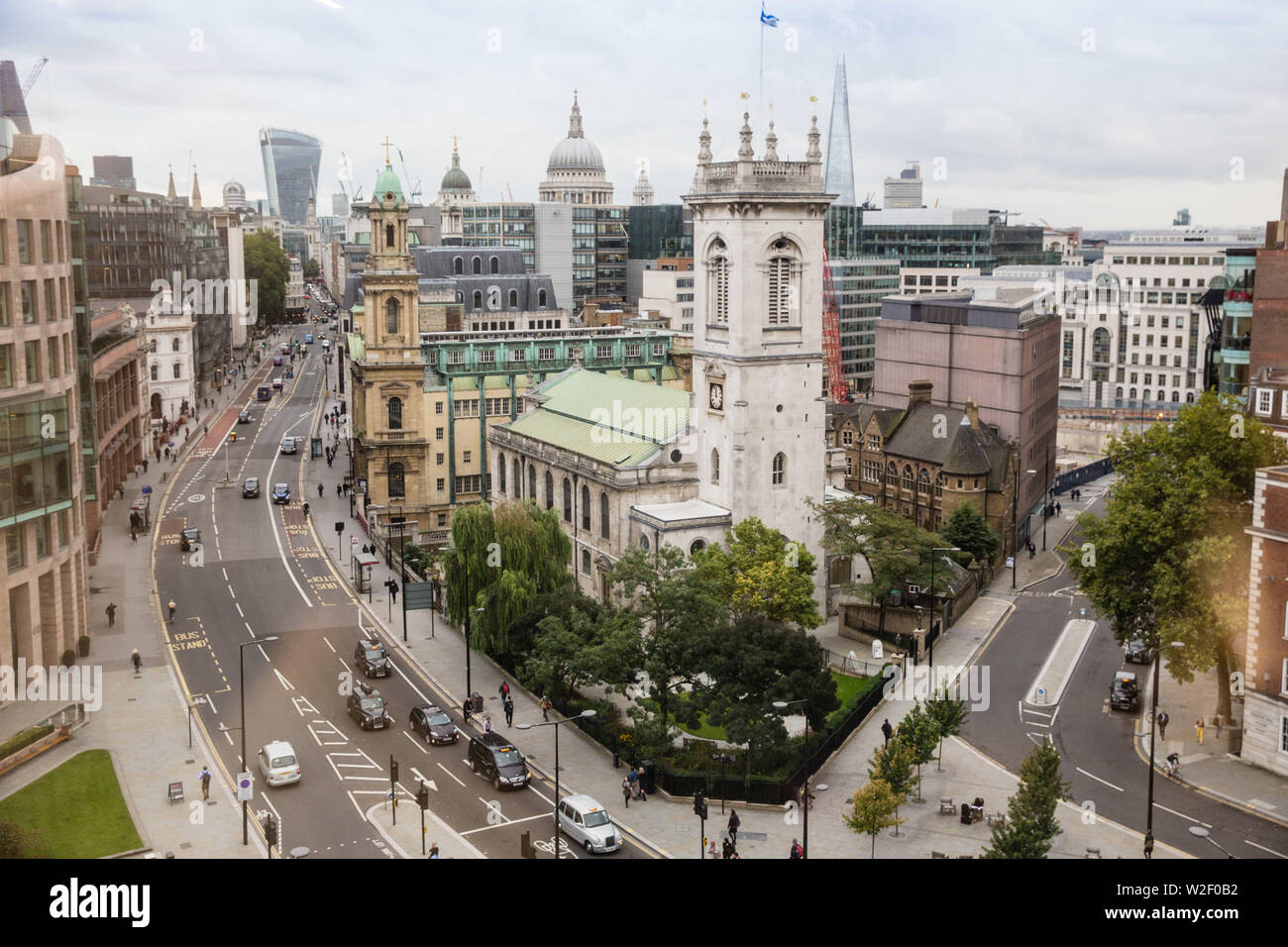 St Andrew Holborn The largest Anglican parish church designed by Christopher Wren now also a striking events venue. Stock Photo