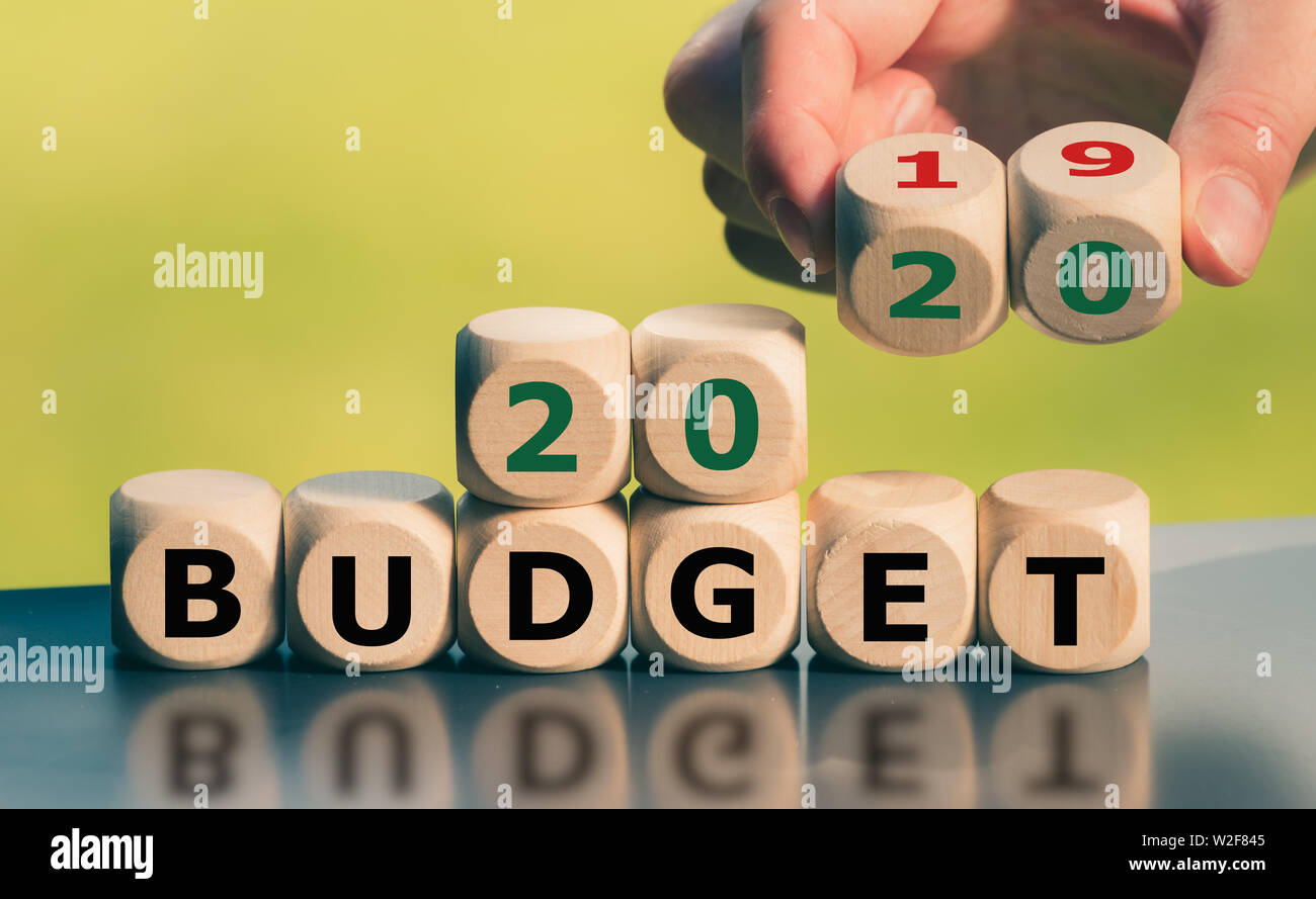 Symbol for the 2020 Budget. - Stock Image