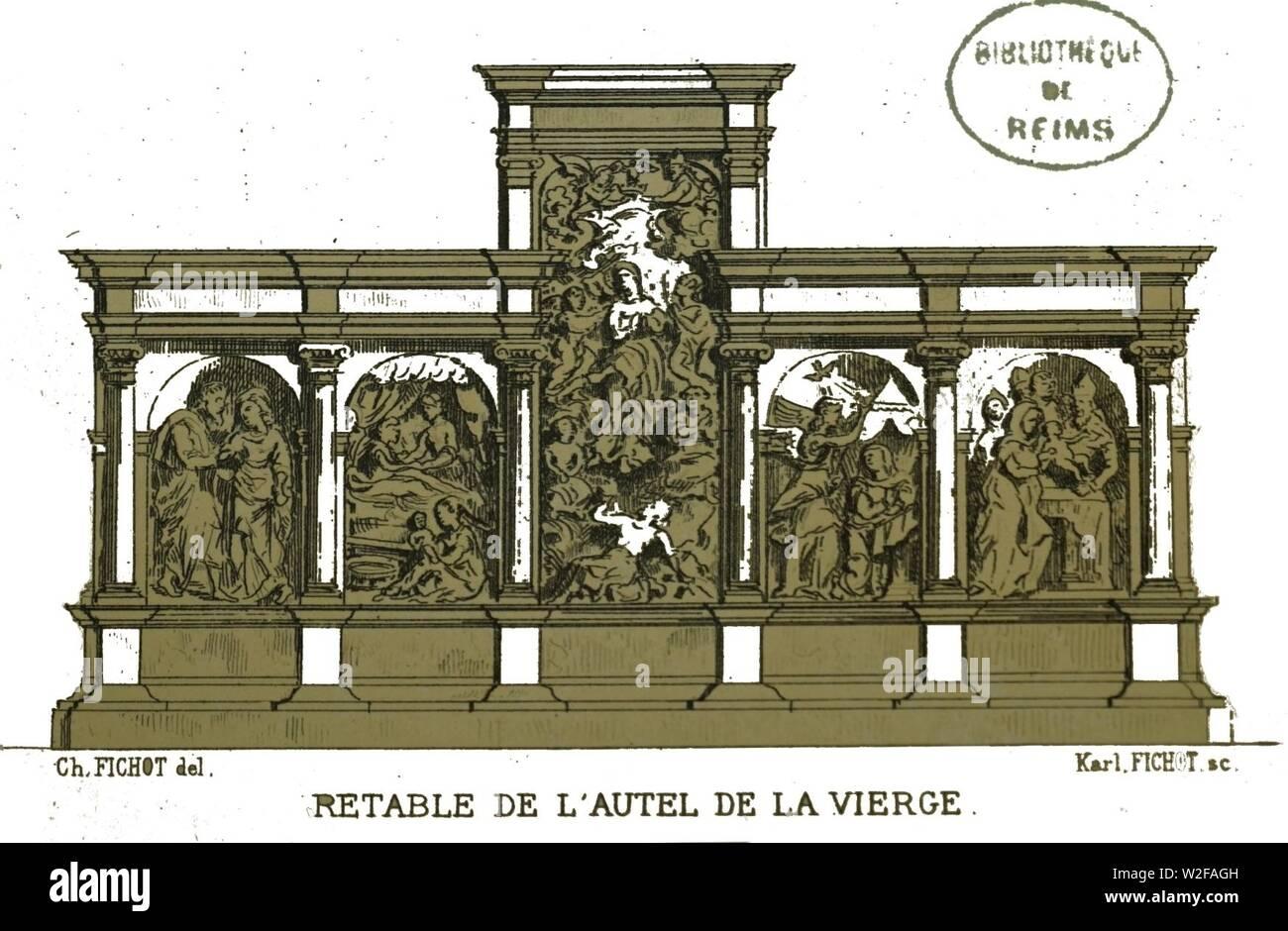 Chapelle saint luc Retable Fichot 00678. Stock Photo