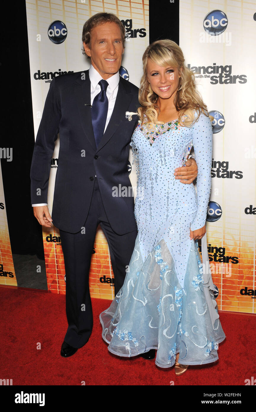LOS ANGELES, CA. September 20, 2010: Michael Bolton & Chelsie Hightower at the Season 11 premiere of ABC's Dancing With The Stars at CBS Television City, Los Angeles. © 2010 Paul Smith / Featureflash - Stock Image