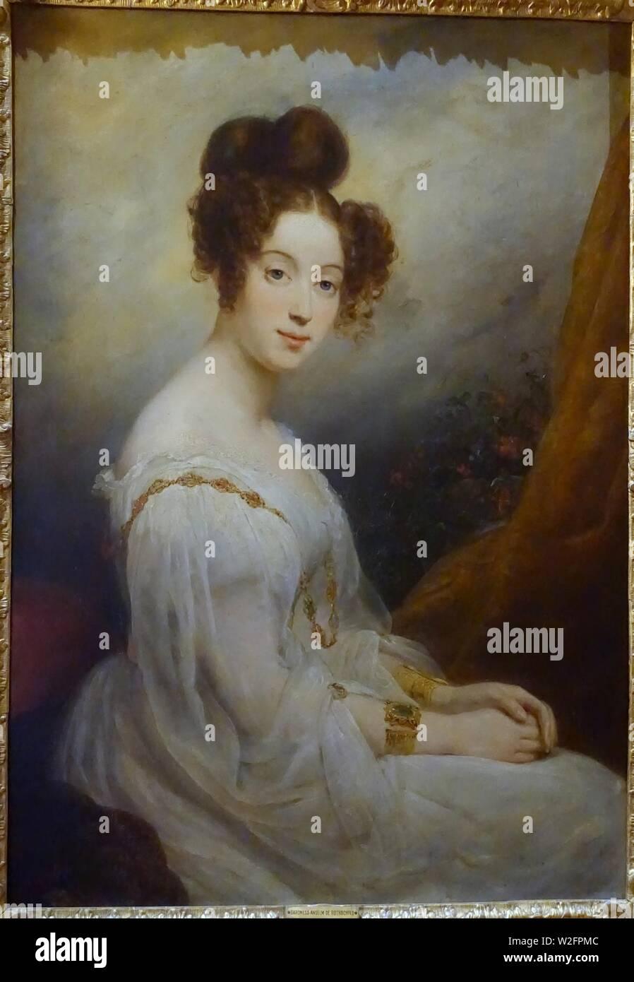 Charlotte, Baroness Anselm de Rothschild, by Ary Scheffer, 1827-1828, oil on canvas - Waddesdon Manor - Buckinghamshire, England - - Stock Image