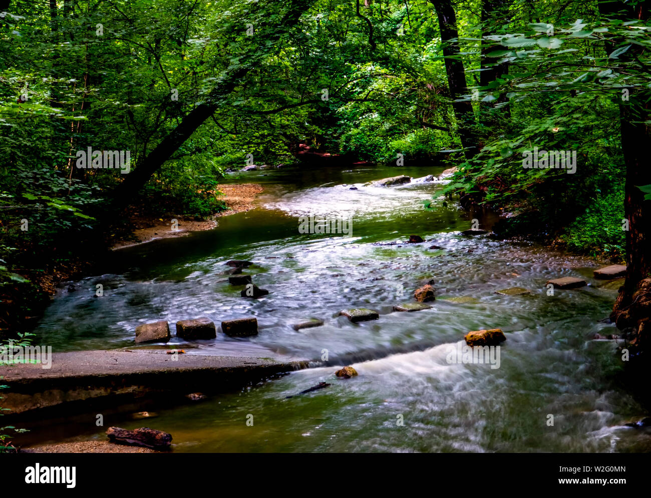 Cascading water - Stock Image