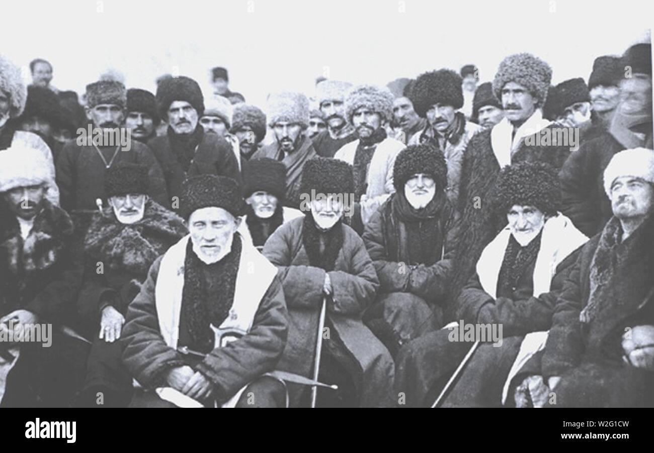 Chechen Delegates 1923. - Stock Image