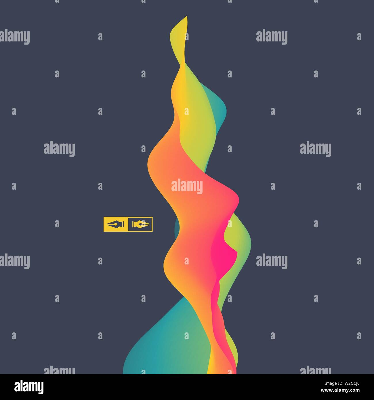 3D Wavy Background  Dynamic Effect  Abstract Vector Illustration