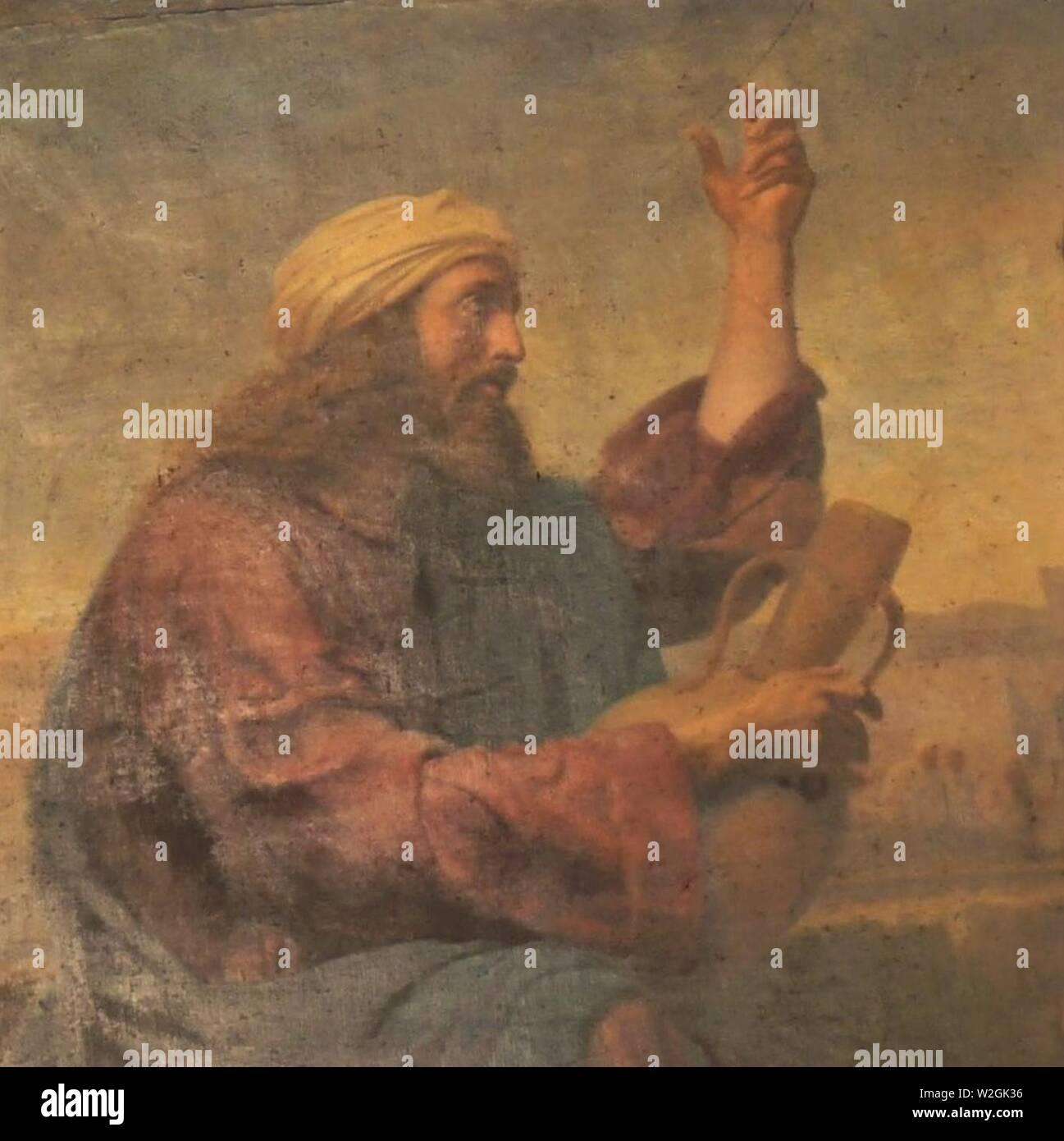 Christ et la Samaritaine by Traviès de Villers (detail). Stock Photo